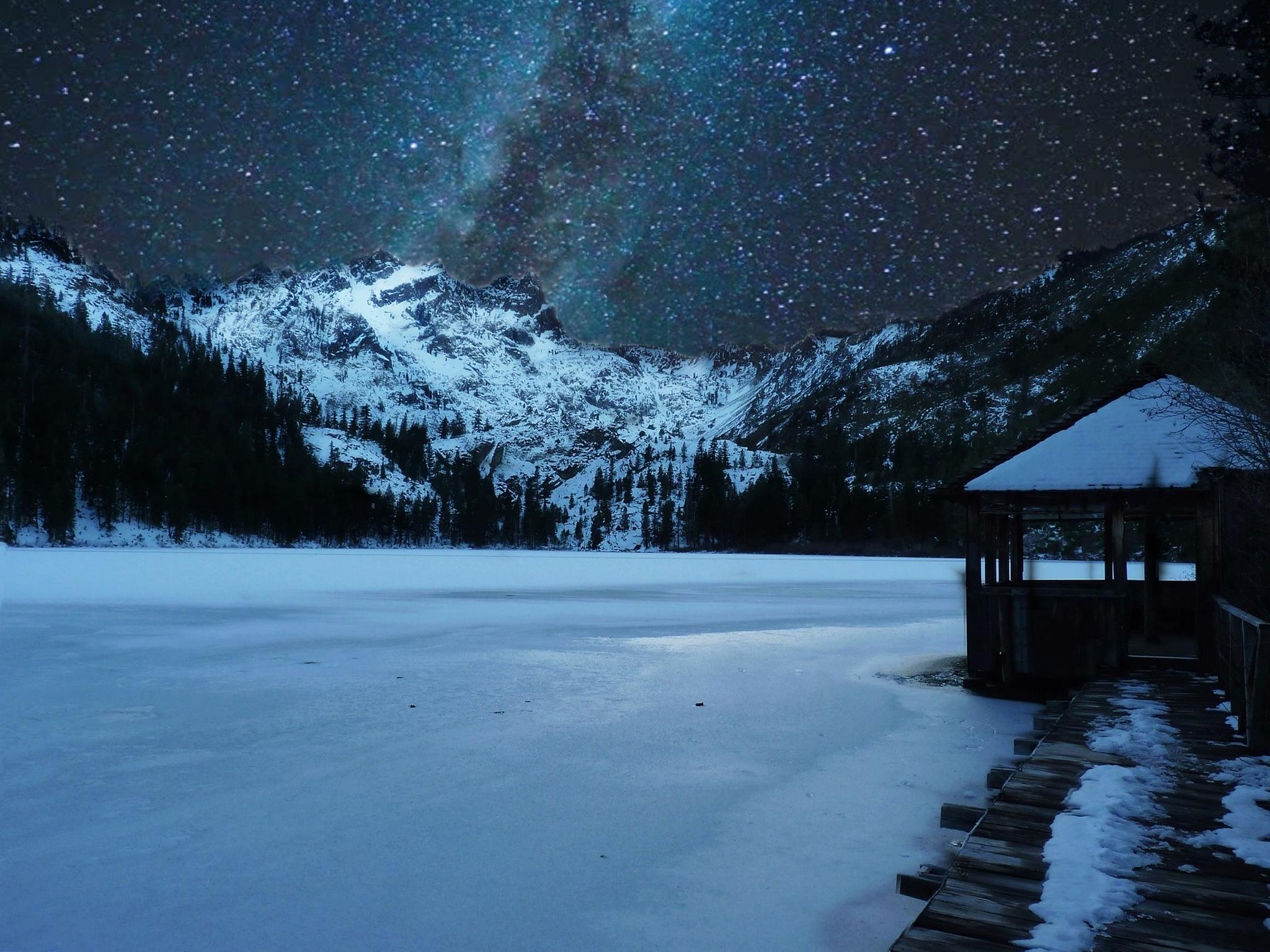 Frozen Sierra Buttes by Edward Risse
