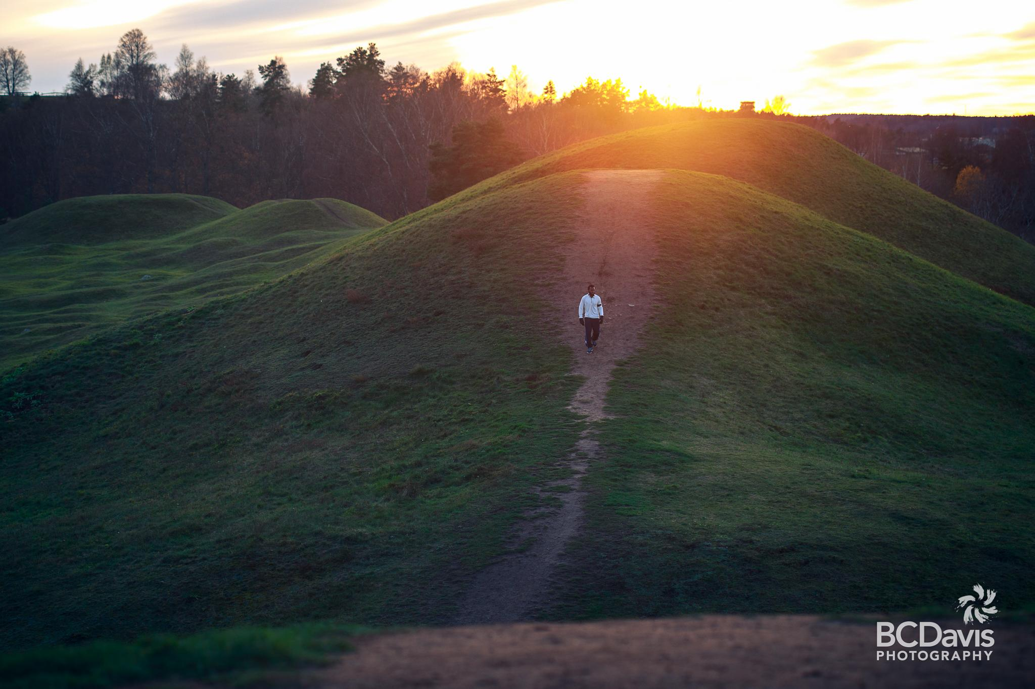 Running down mounds by BCDavis Photography