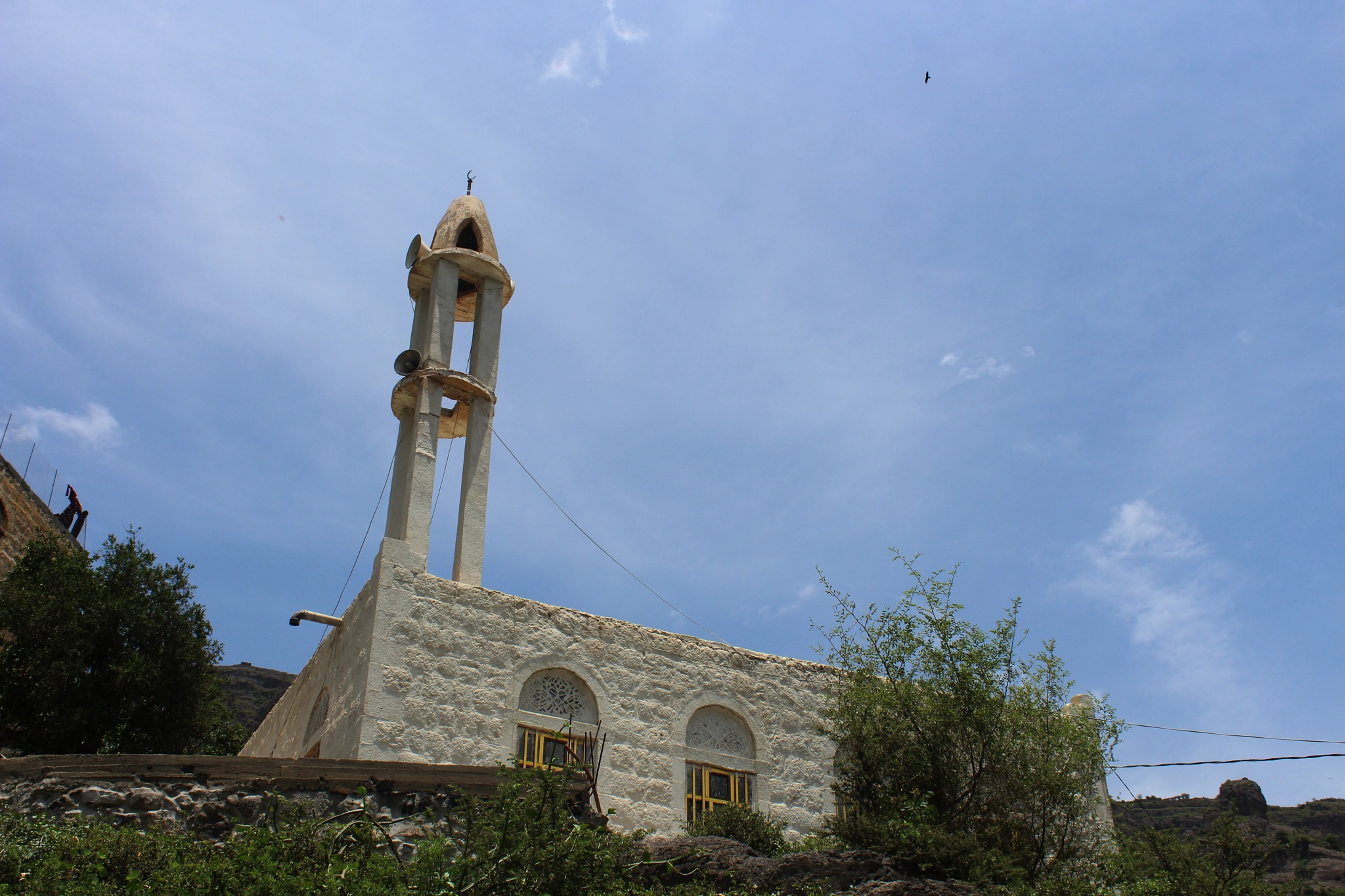 A mosque in my village by Nedhal Alawadi