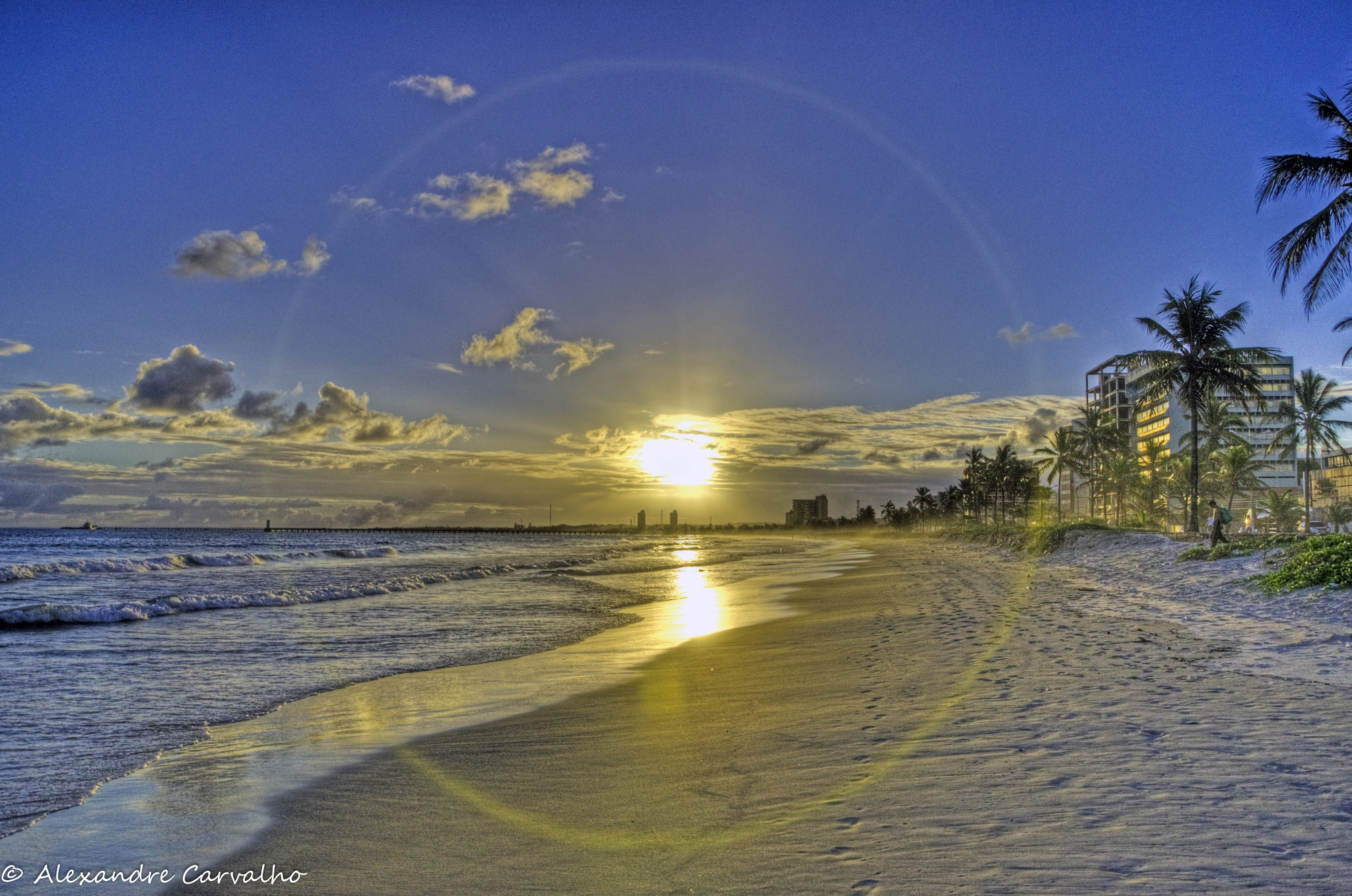 Sunset in the beach by Alexandre Carvalho