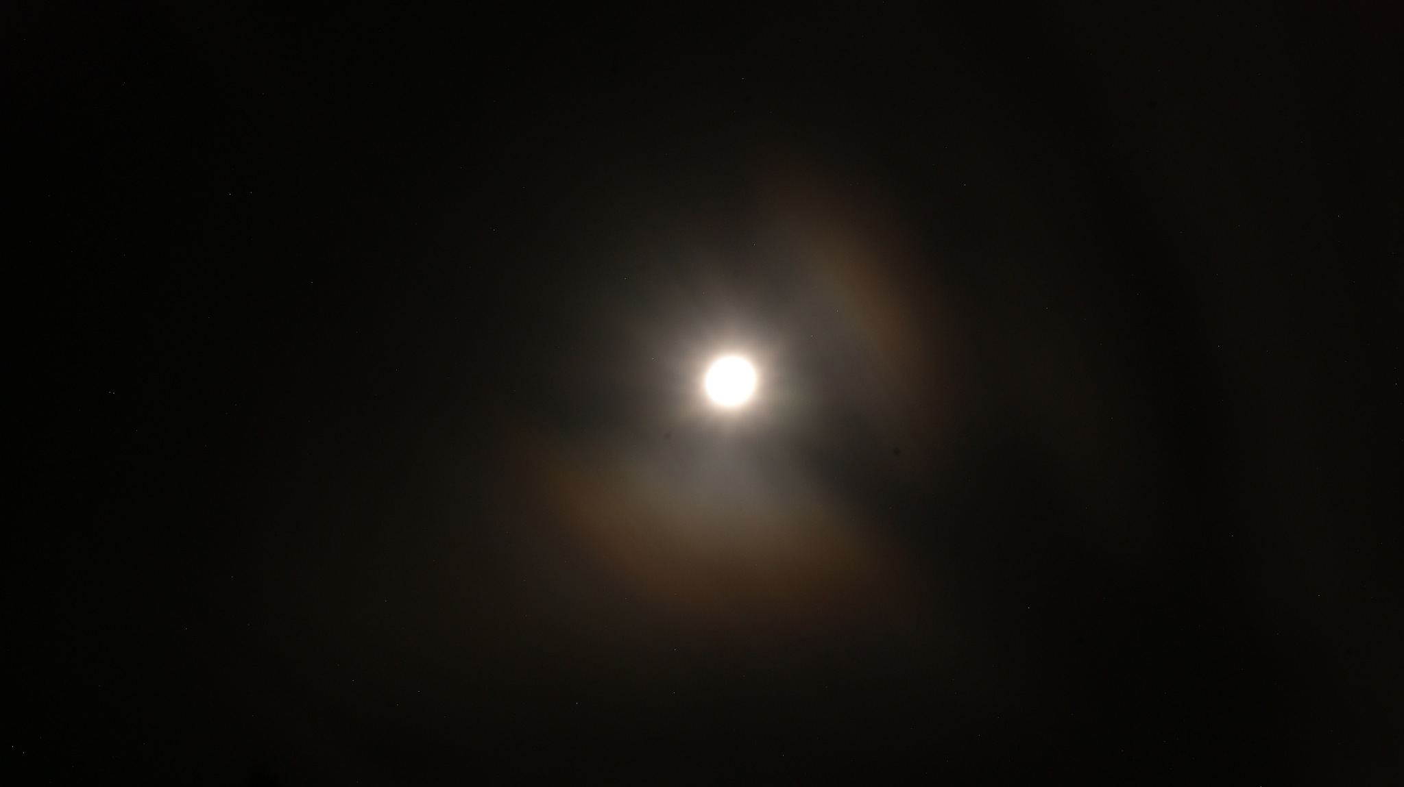 Took this picture of the moon and stars before noticing there was dirt on my lens by Simon D