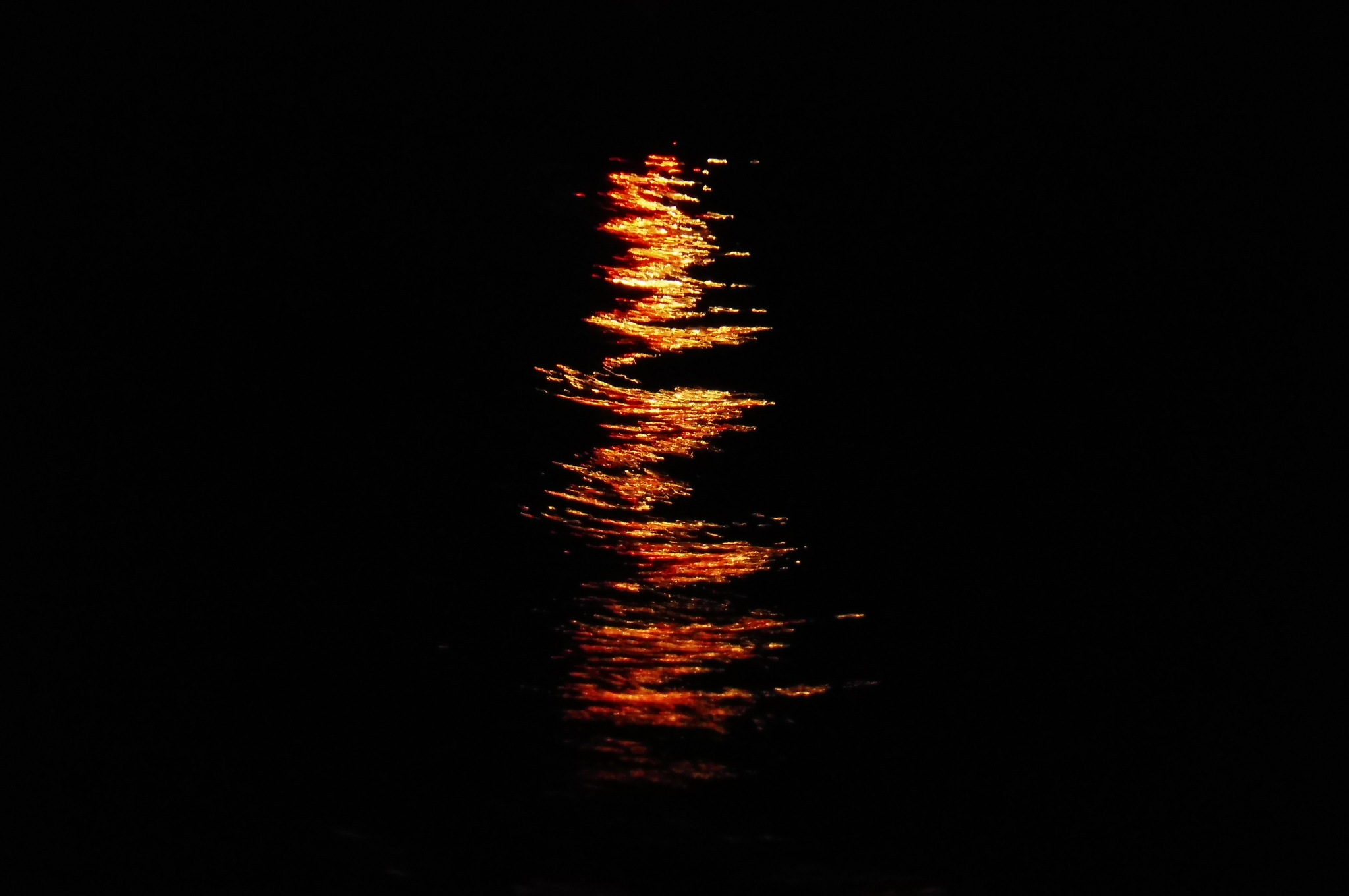 Reflection of a light in the darkness by Vasileia