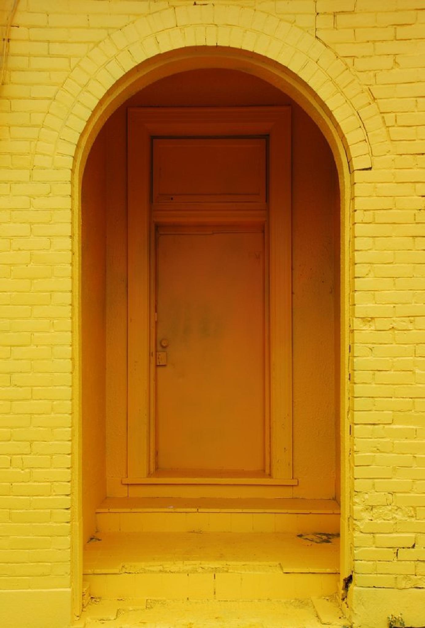 A Yellow Door by Benoit Aubry