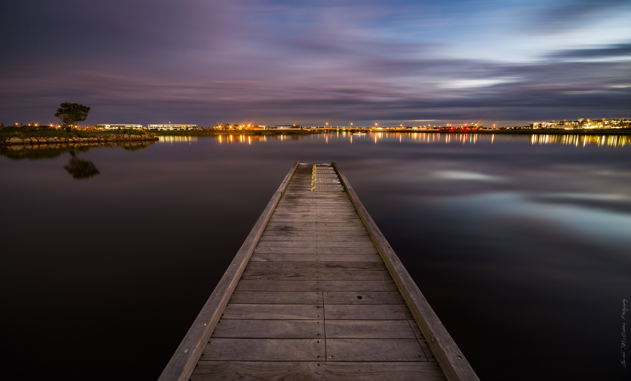 **The Jetty at Twilight** by Damian McCudden