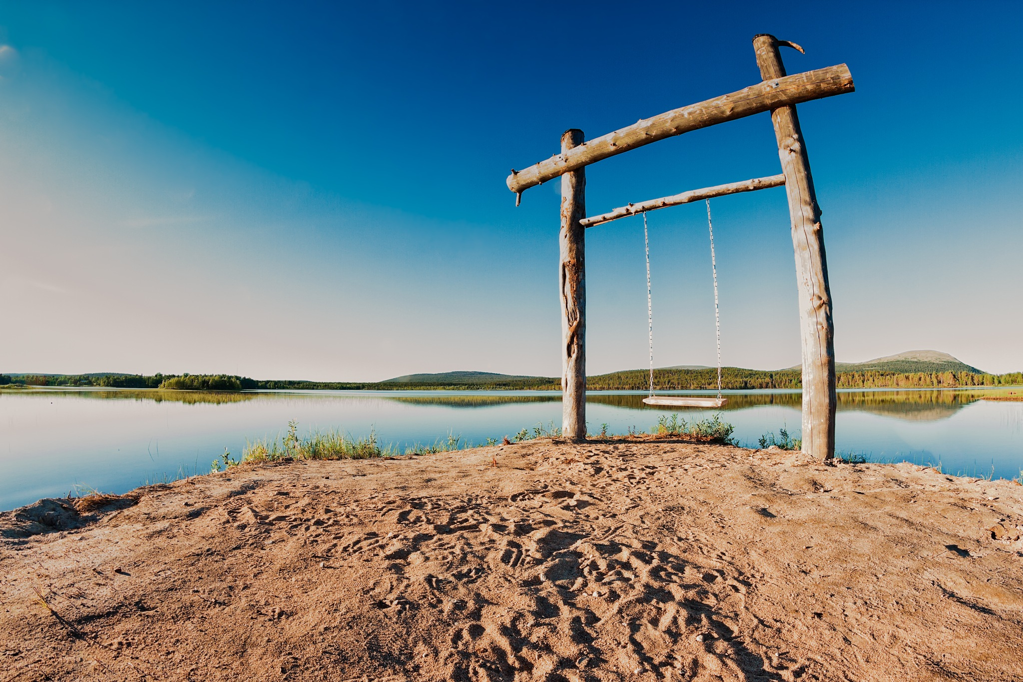 Swing By The Lake by J.P. Heinovirta