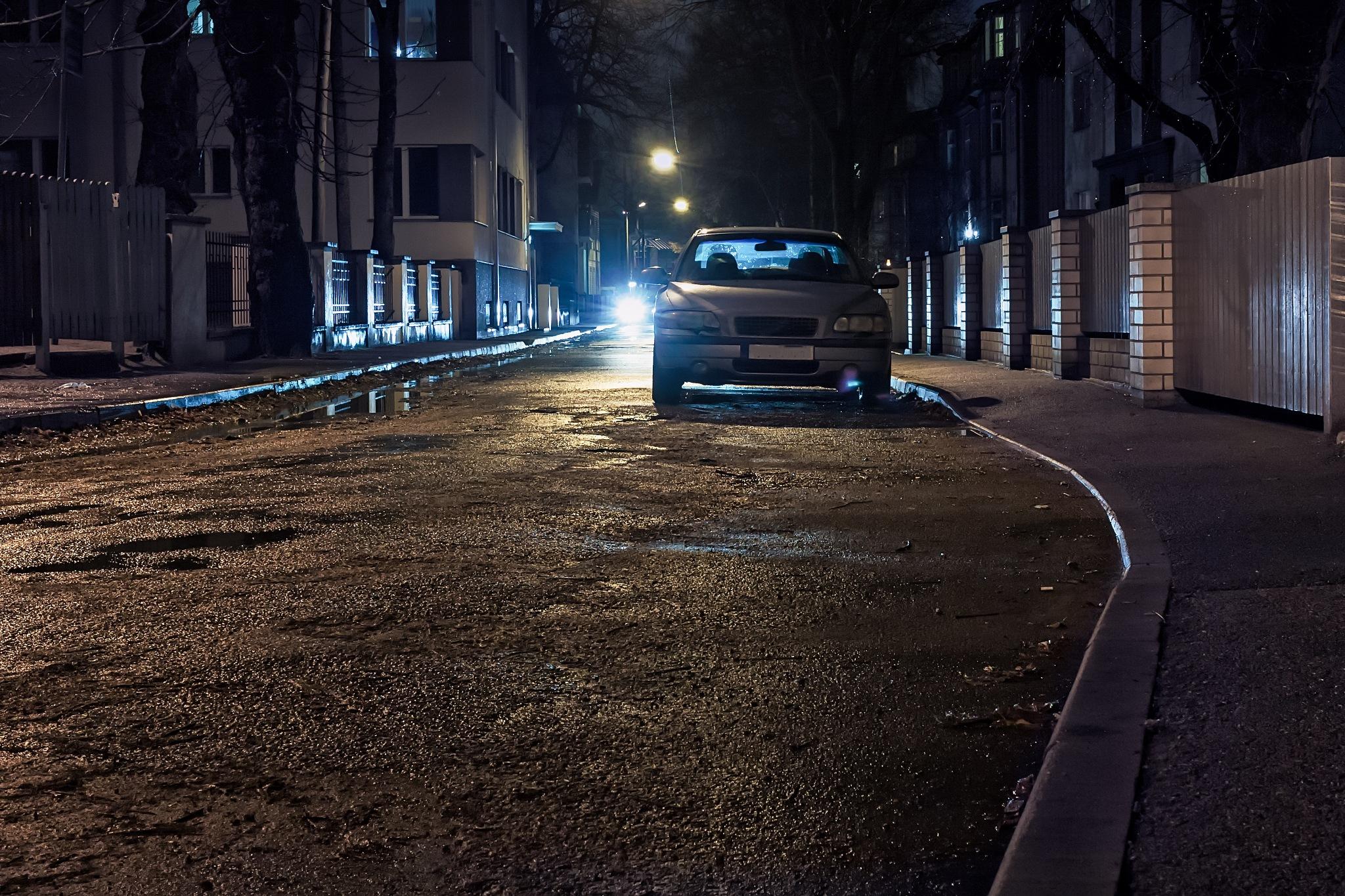 Quiet Street At Night by J.P. Heinovirta