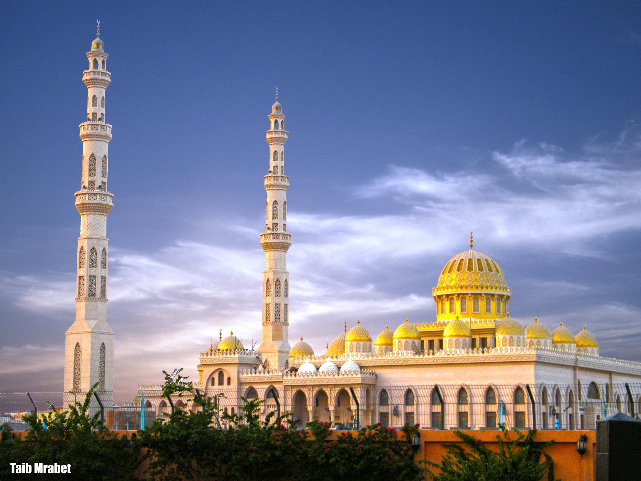 golden mosque by Taib MMrabet