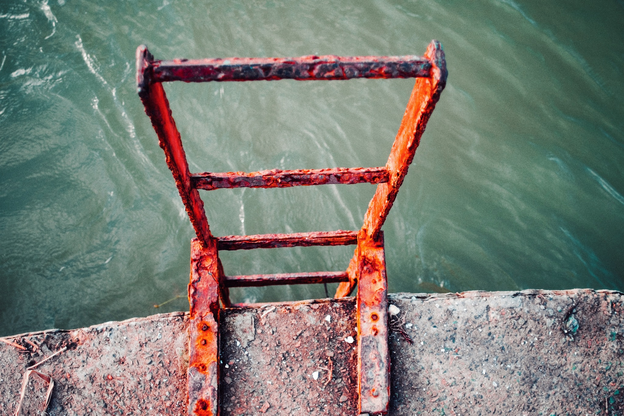 The rust ladder  by Moises Santana