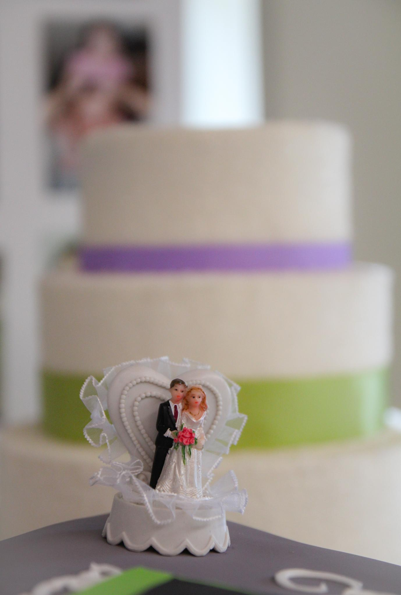 Bride and Groom Cake by Tina Paris