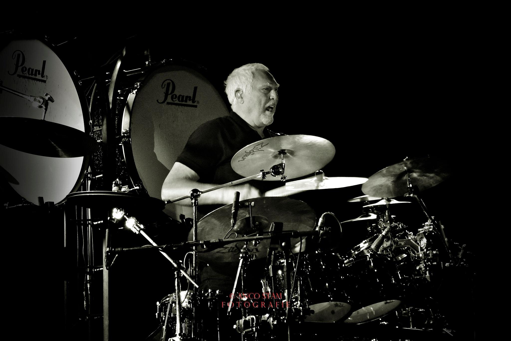 Cesar Zuiderwijk, drummer Golden Earring by Anco Stam