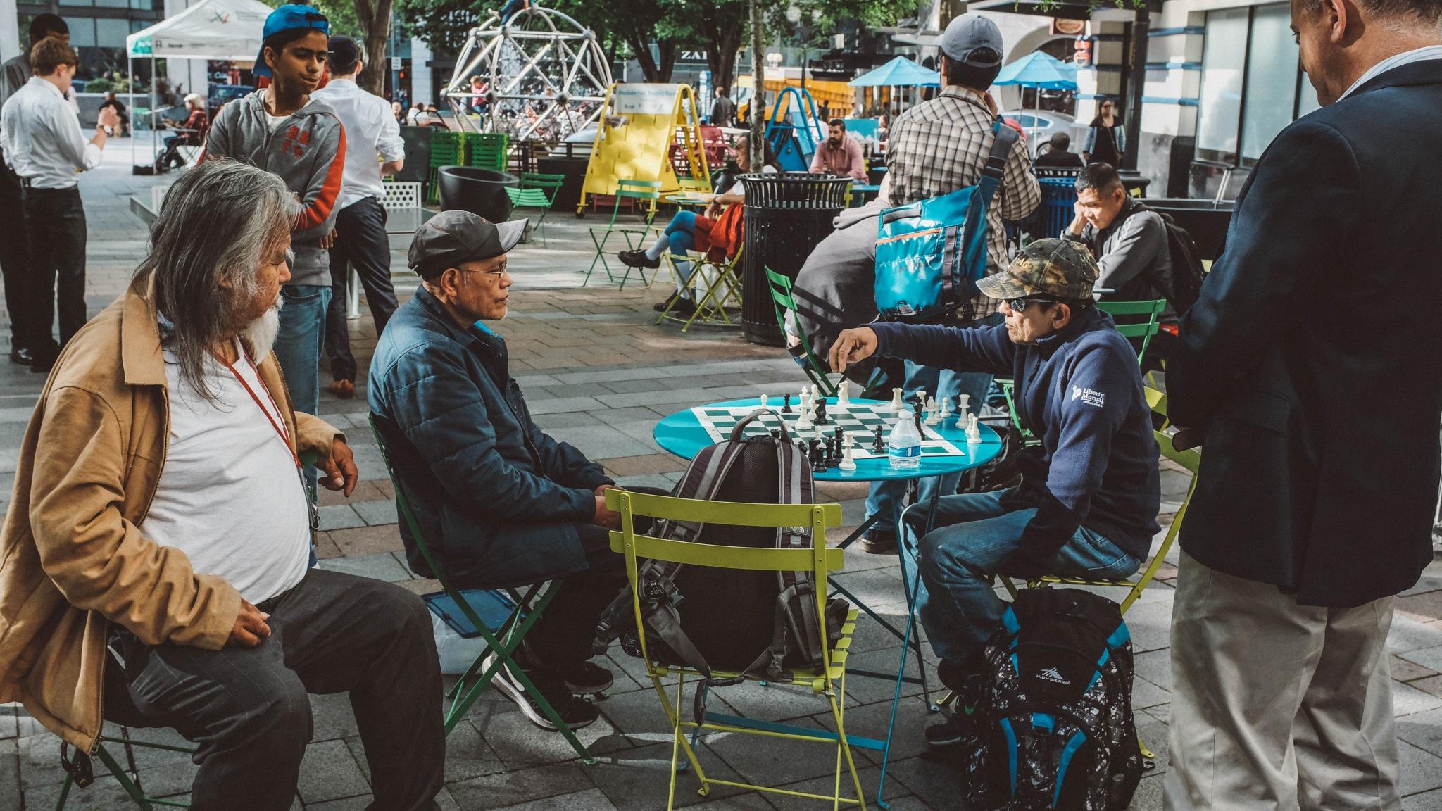 Urban Chess Players by photoigorsolovey