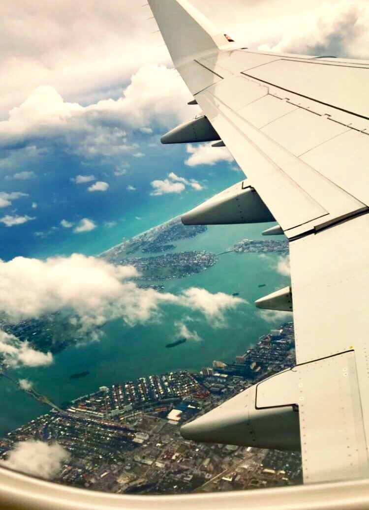Flying over Miami  by DeAnna