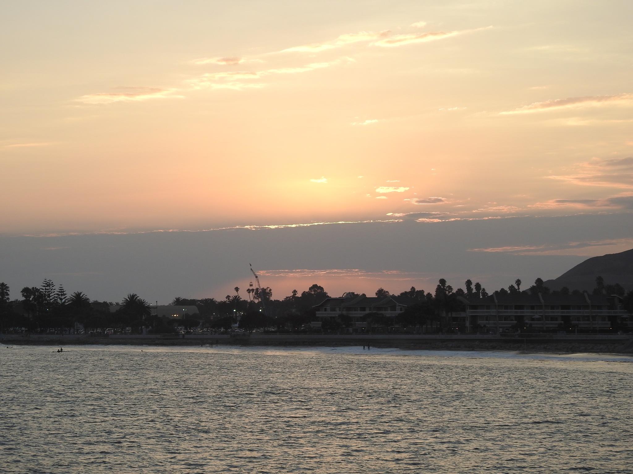 sunset beach by Bobby Zimmerman