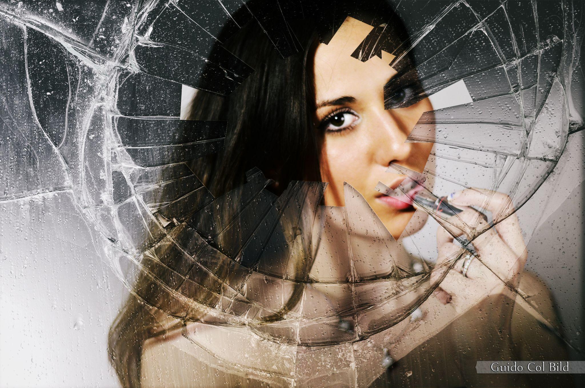 Girl behind a broken Mirror by Col Guido