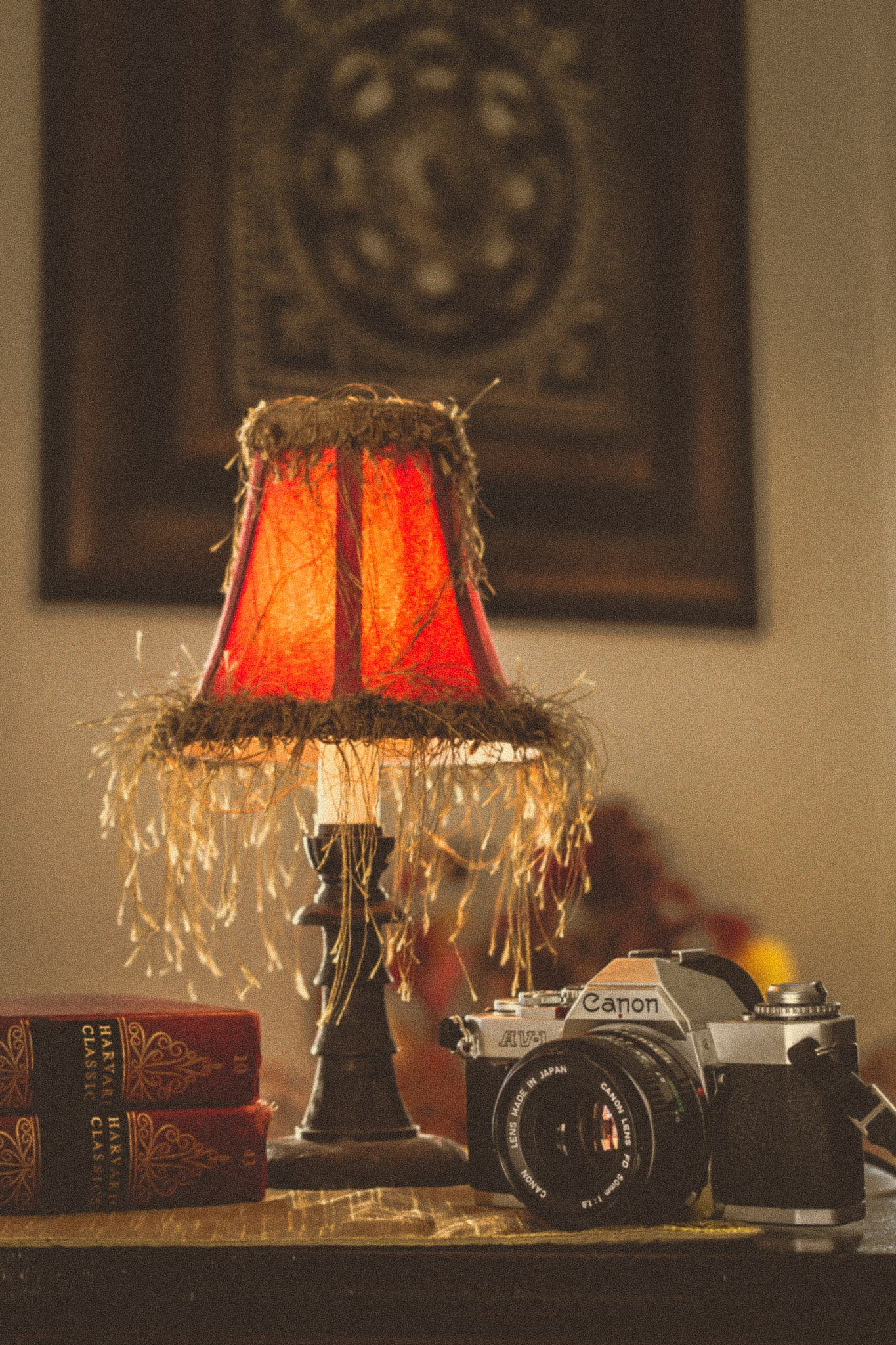 Camera and Lamp by Paris B. Photography
