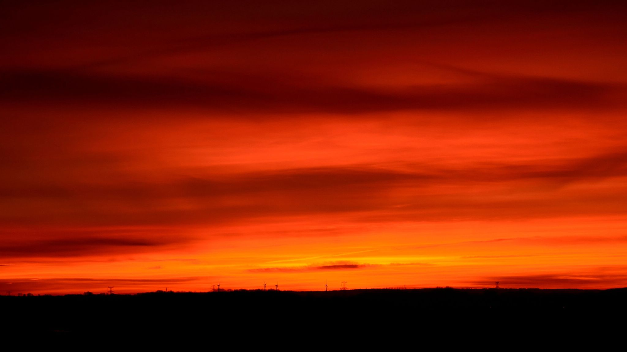 Under a blood red sky by Lizzy