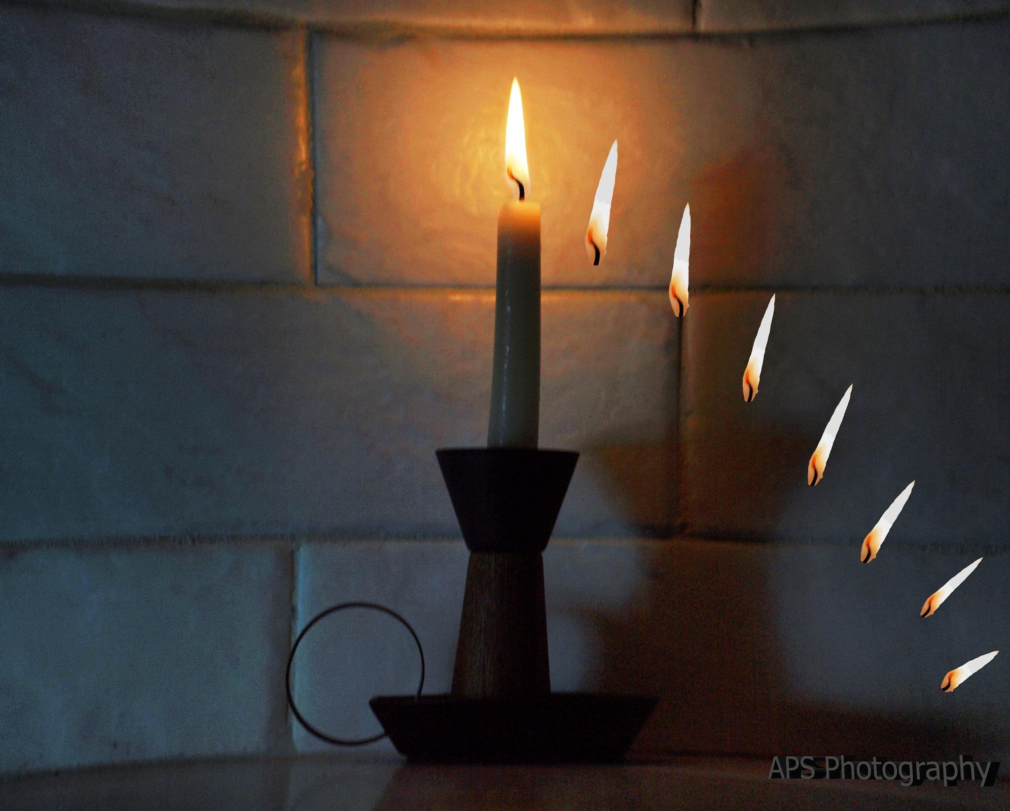 crazy candle by AlexPhotoStudio