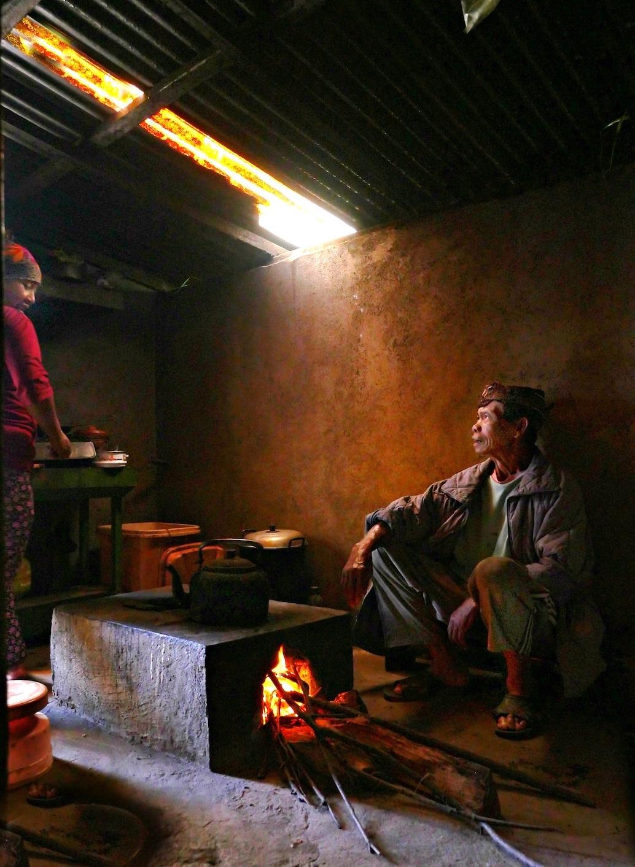 Preparing lunch Javanese stye by kevinmfairley