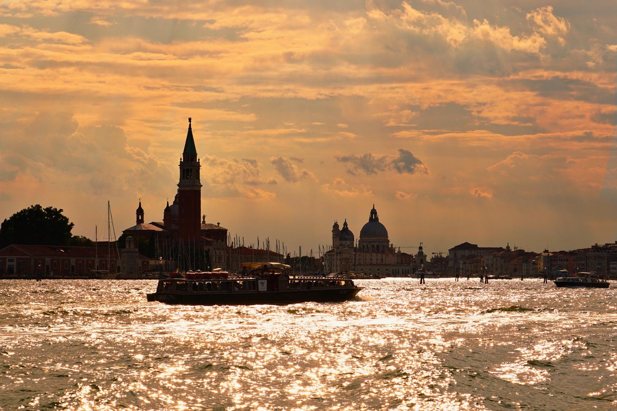 Sunset at Venice by Poul-Erik Olsen
