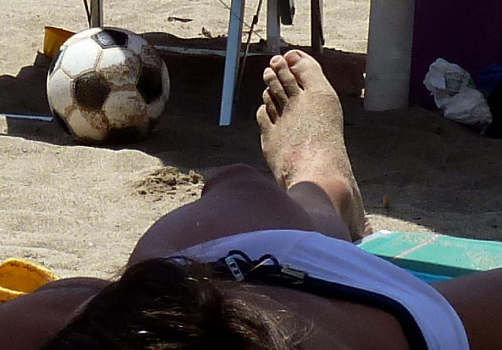 Beach Foot Ball by Anton Agalbato