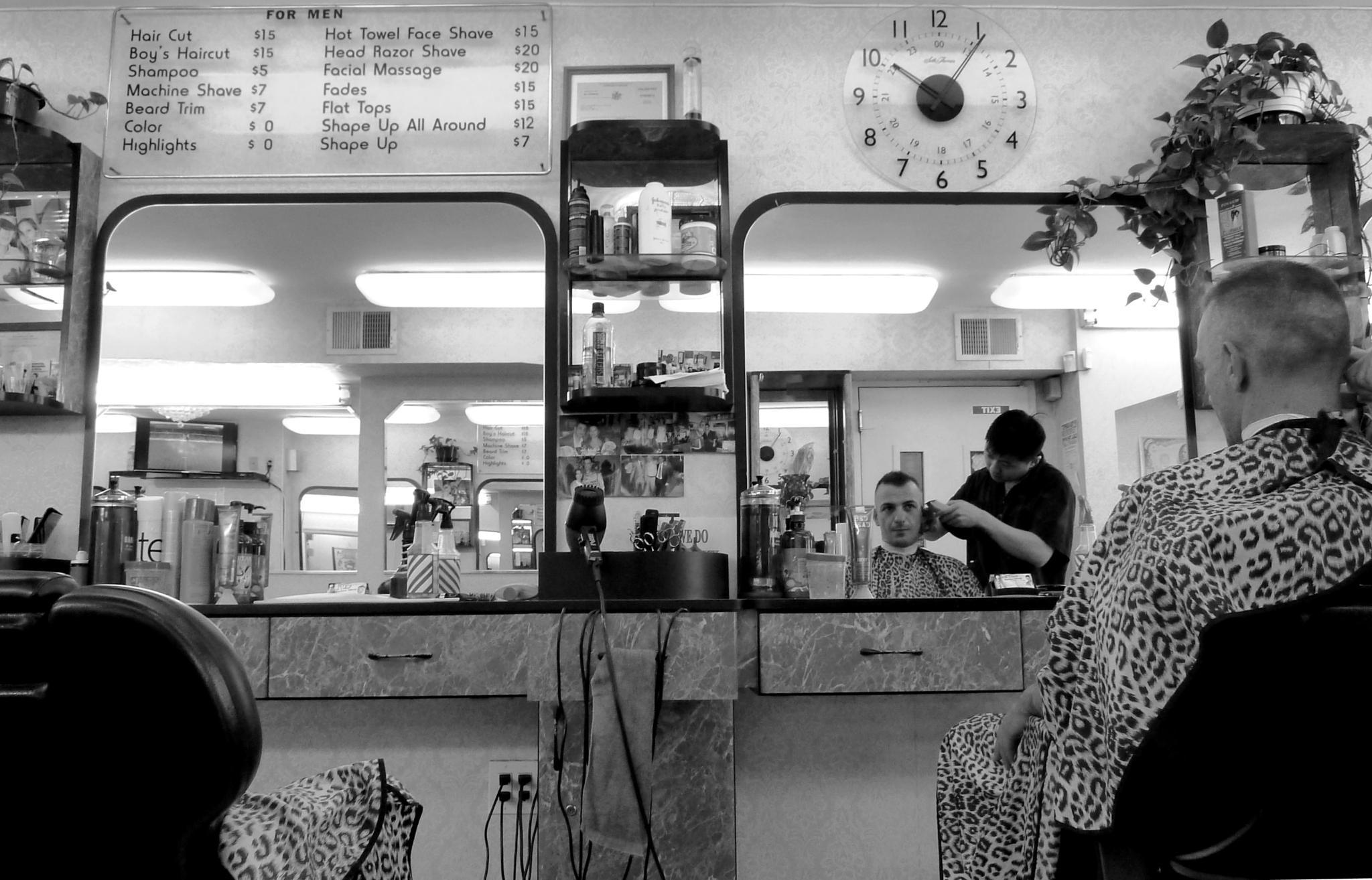 Barber shop, NYC. by Anton Agalbato