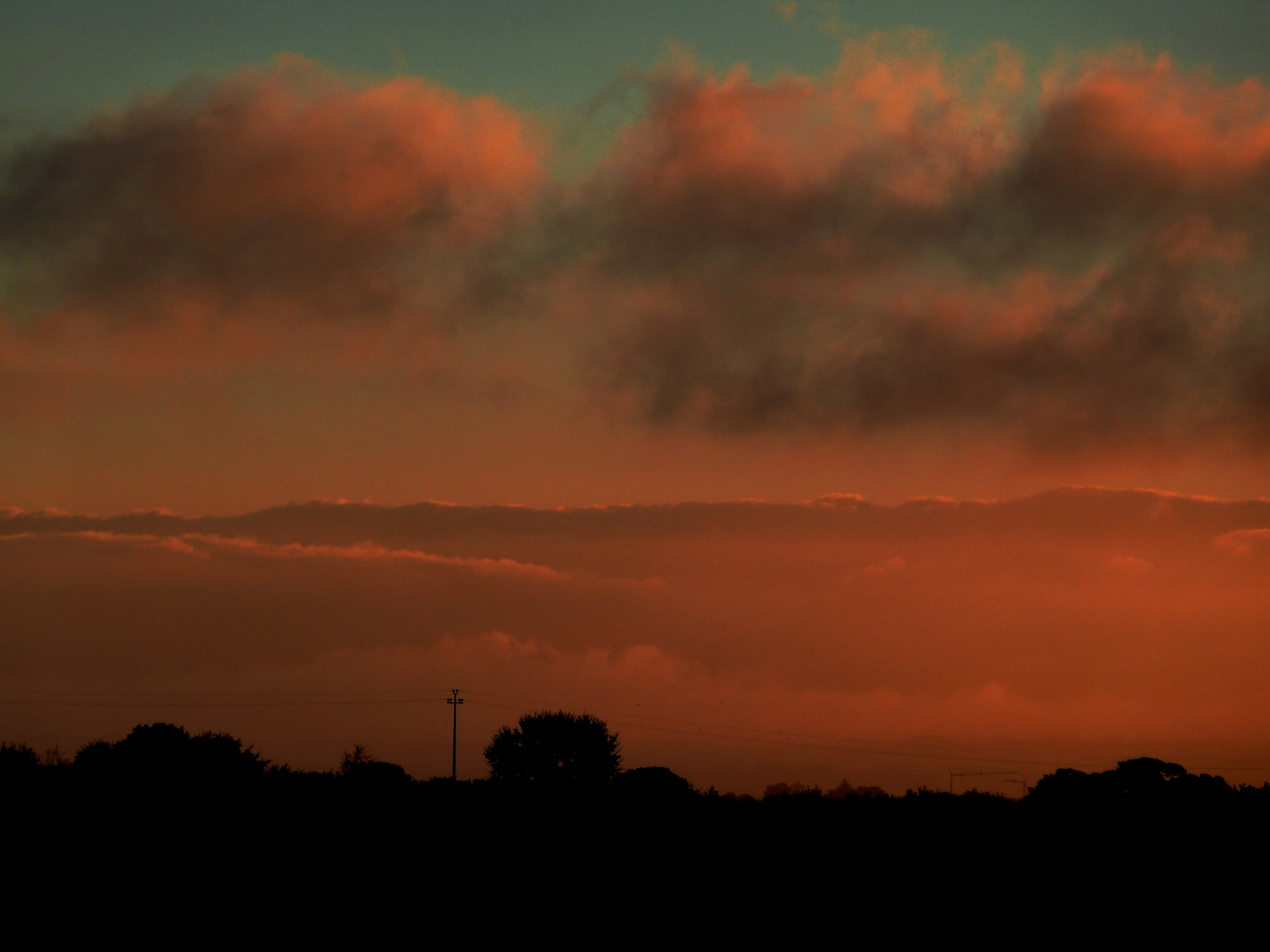 The ruddy blush of sunrise. A view from the terrace. by Anton Agalbato