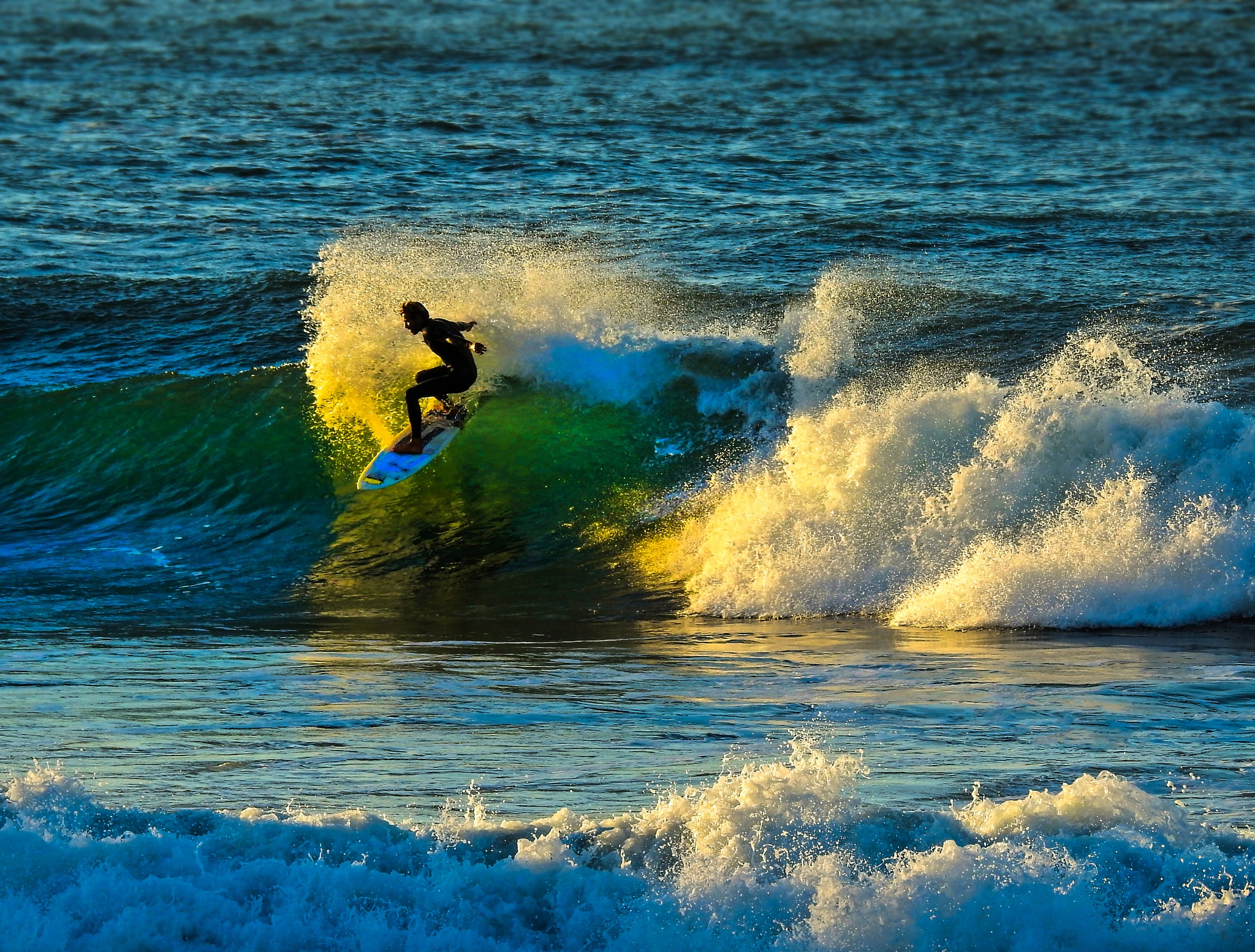 Surfing in Biarritz, France by JMCtronic