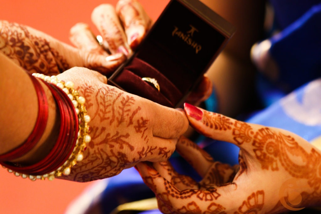 Ring ceremony Indian wedding Photography by Angad Joshi
