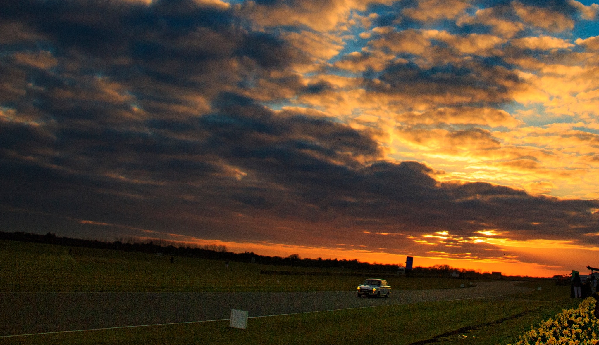 Goodwood racing at dusk by andykmill