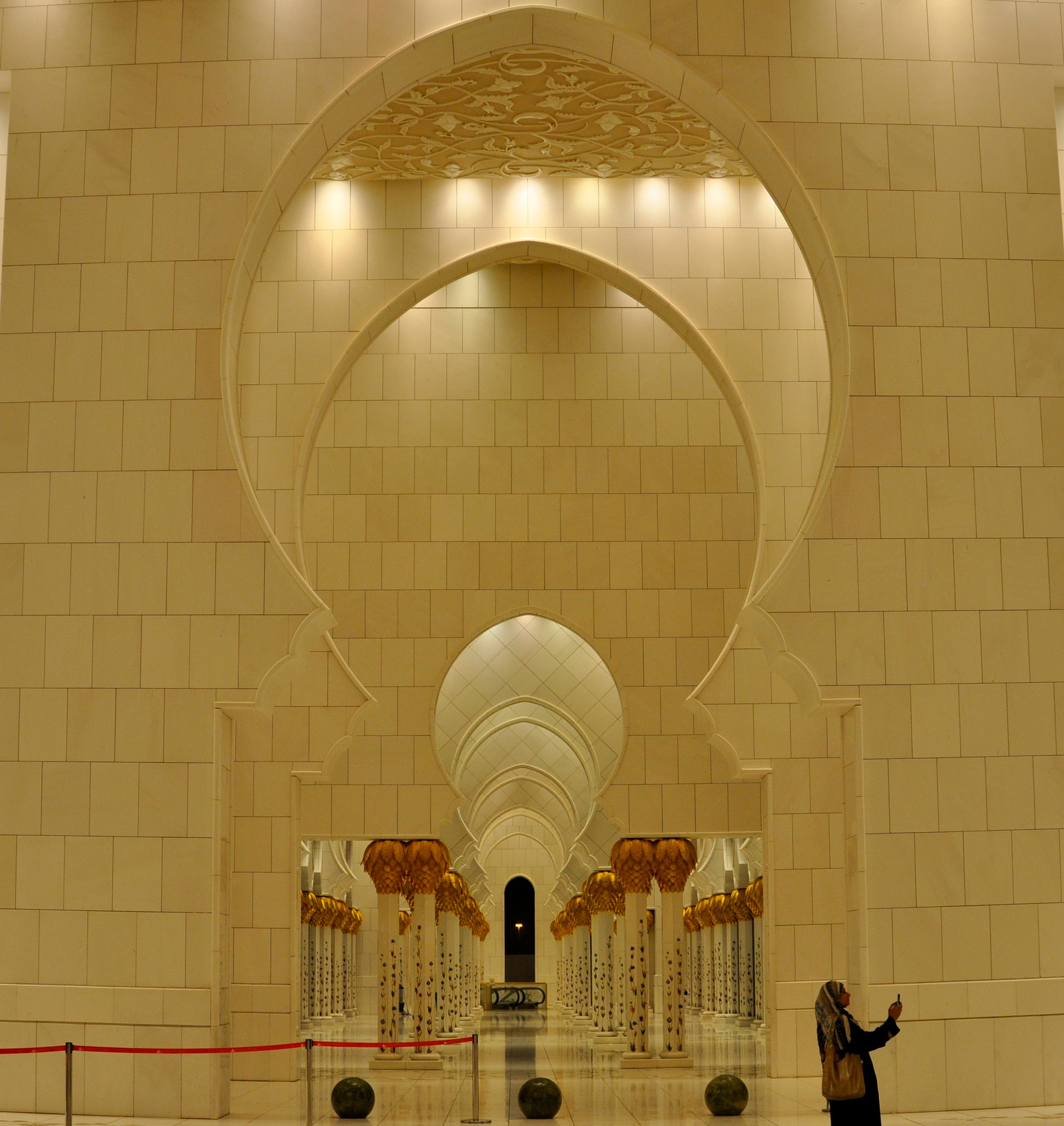Interior of Grand Mosque by Joy Joseph