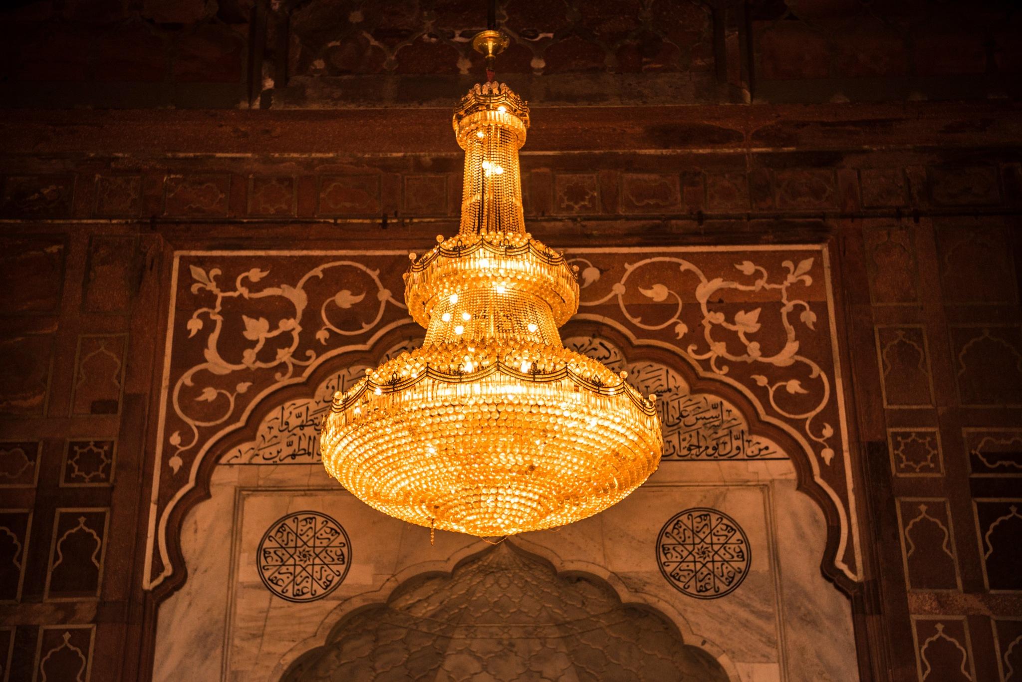 Photo in Architecture #chandelier #jama masjid #delhi #india #mugghal #shah jahan #nikon #d750