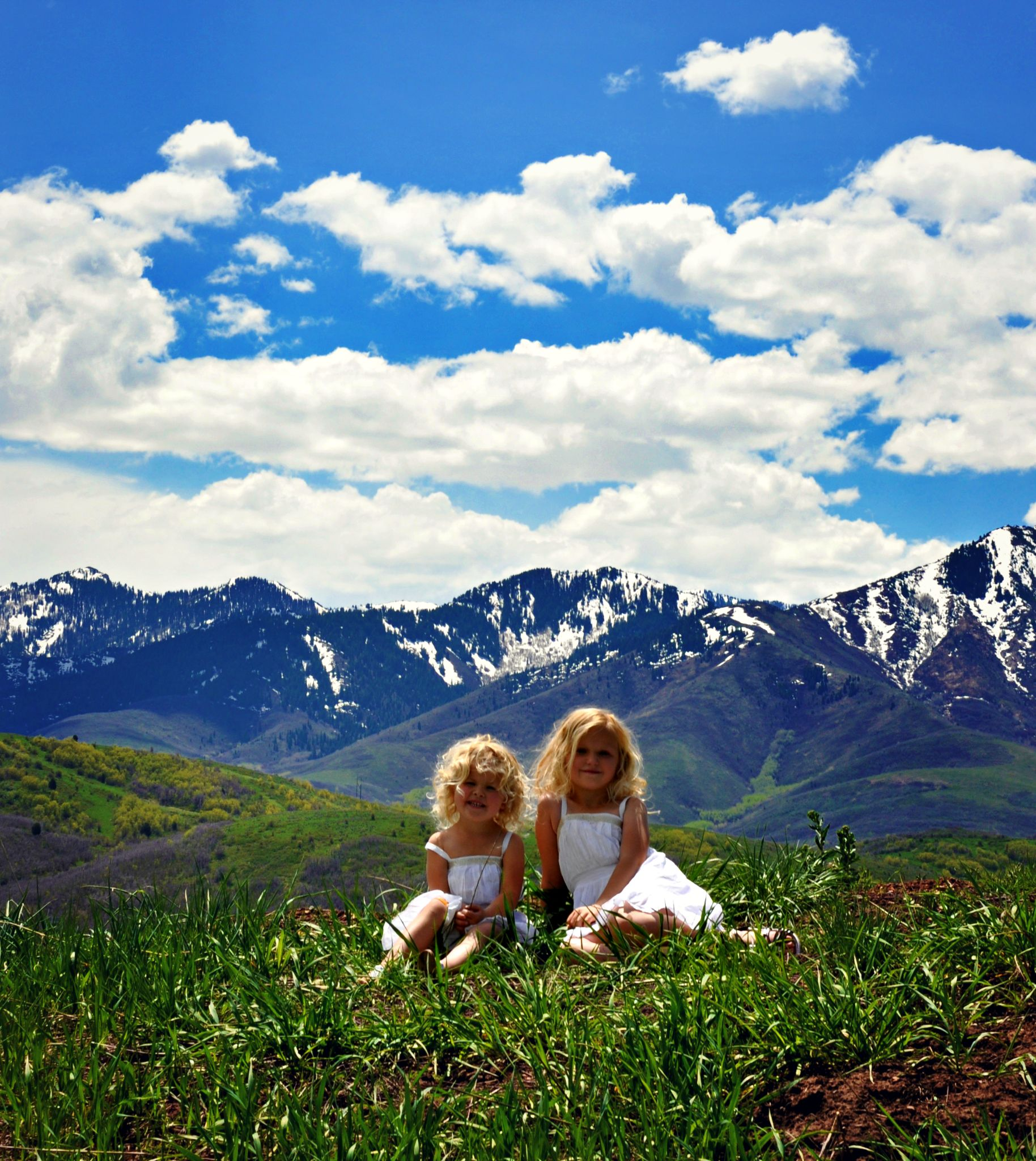 Little Girls on the Prairie  by Sara Tiger