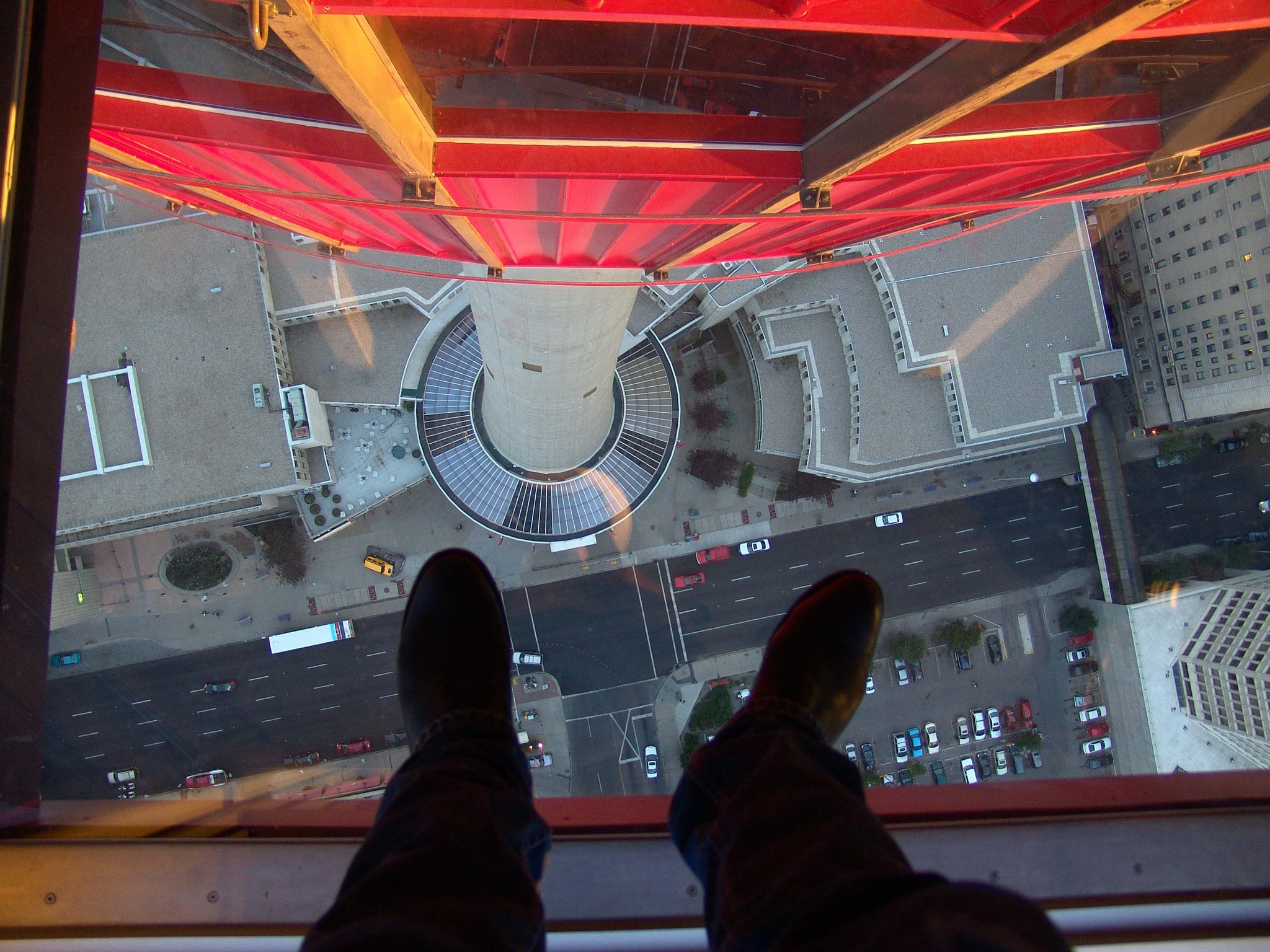 Calgary tower, glass floor by Miloliidrifter
