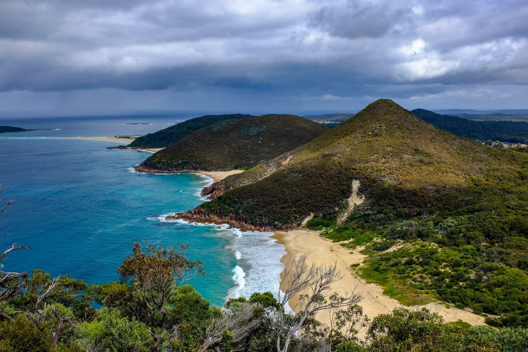 Zenith Beach from Tomaree mountain  by jmimages
