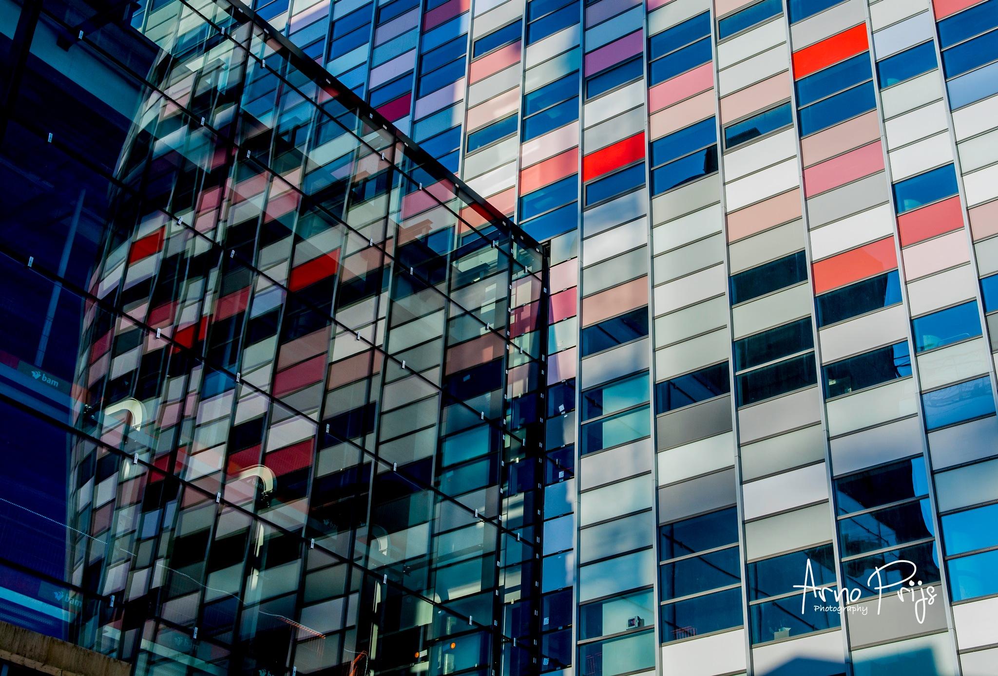 Reflectie 'Poortgebouw' Utrecht by Arno Prijs