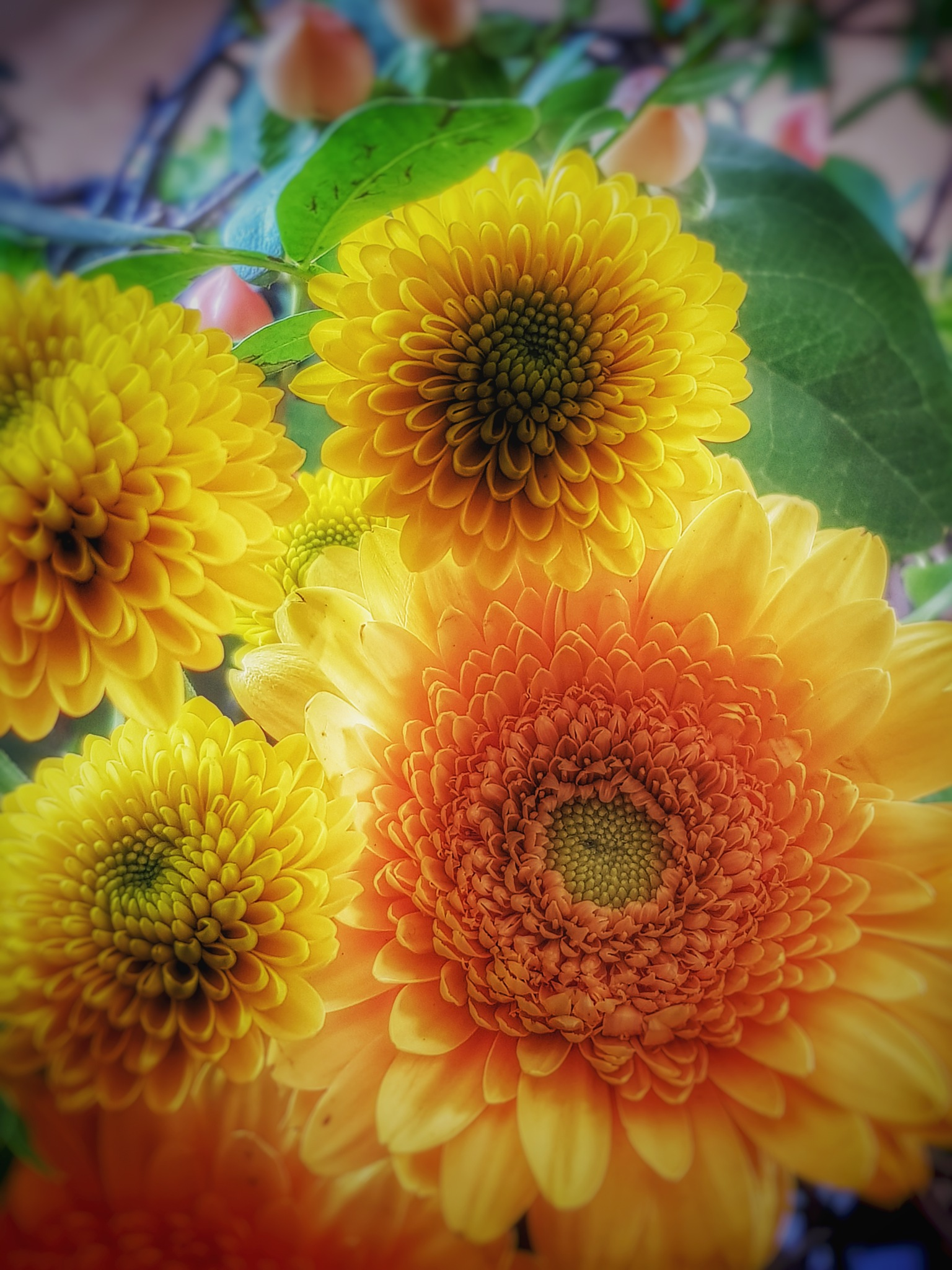 Flowers in yellow  by Annica Josefsson