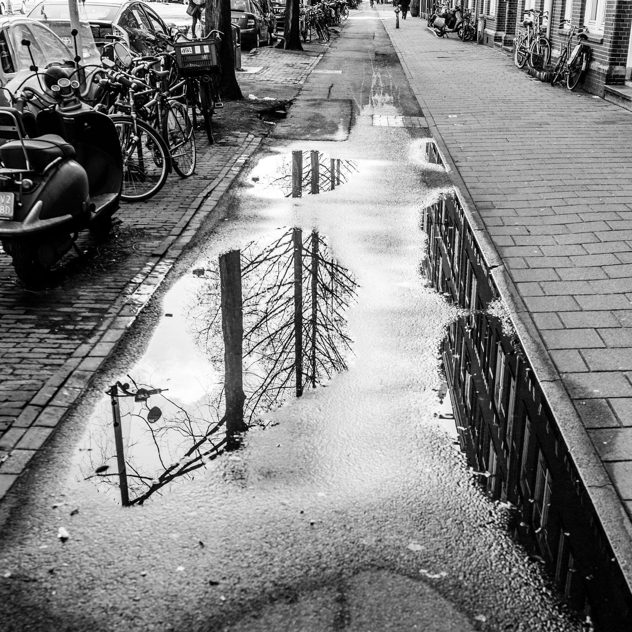 Rain mirror by Rob Stegenga