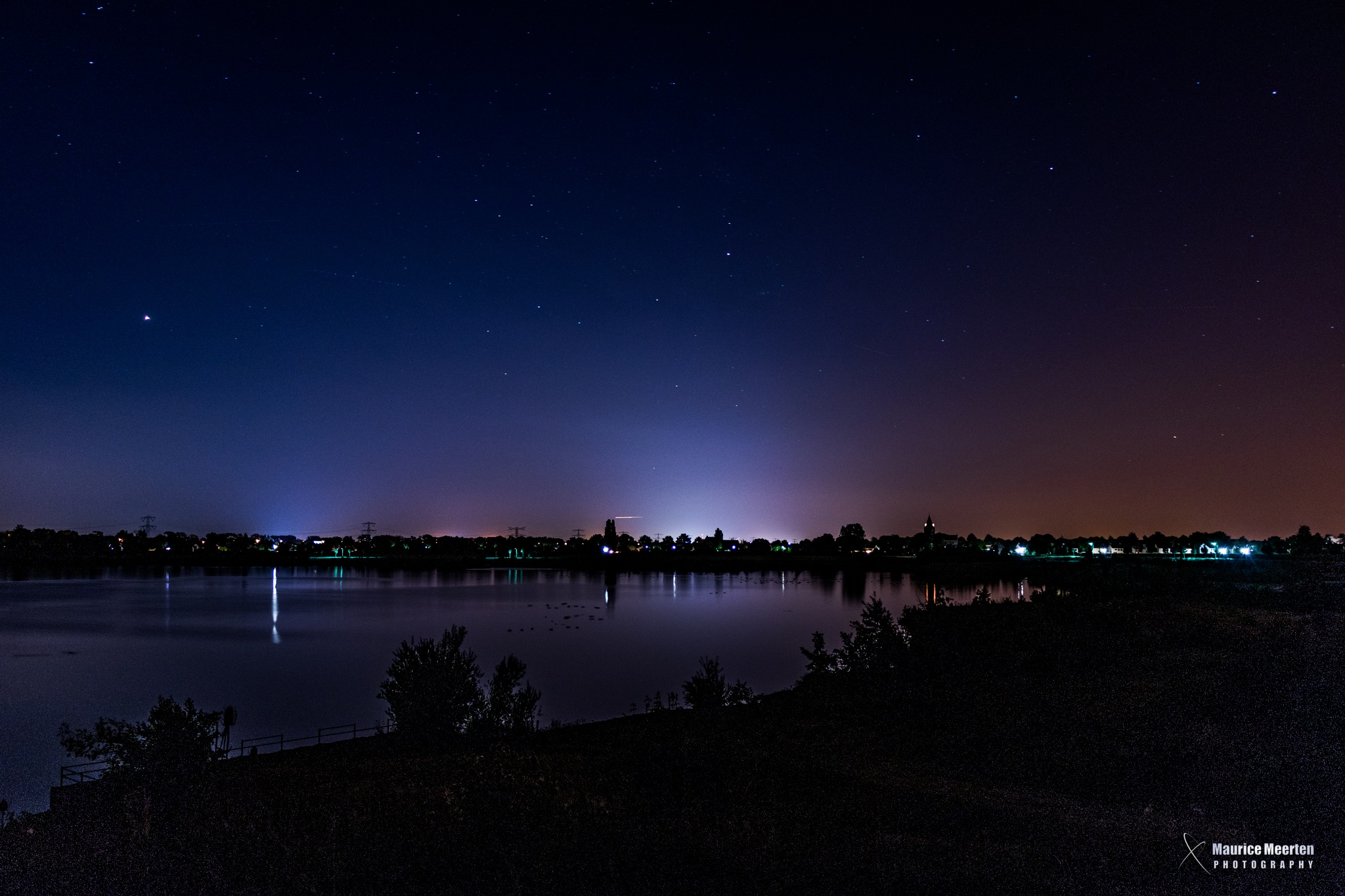 Landscape at night by Maurice Meerten