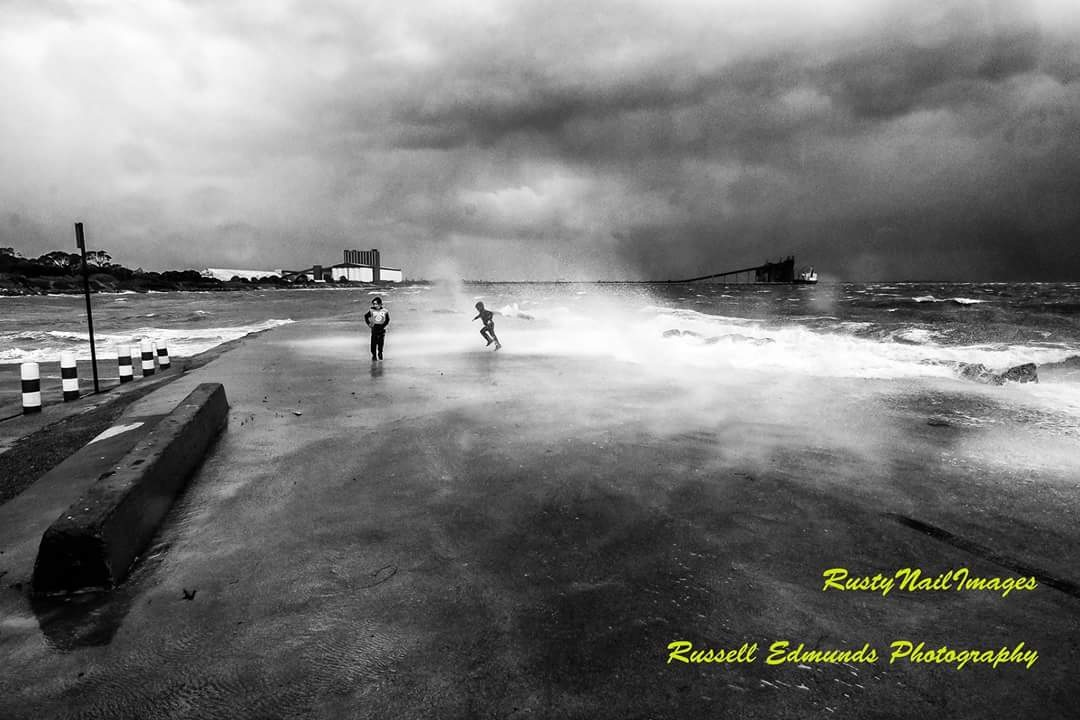 storm Kwinana beach Western Australia  by Russell Edmunds