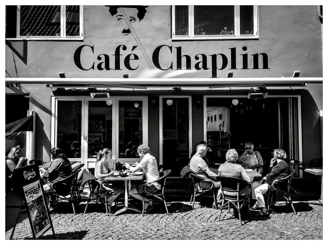 Cafe in Helsingör Denmark by Erik Berrio
