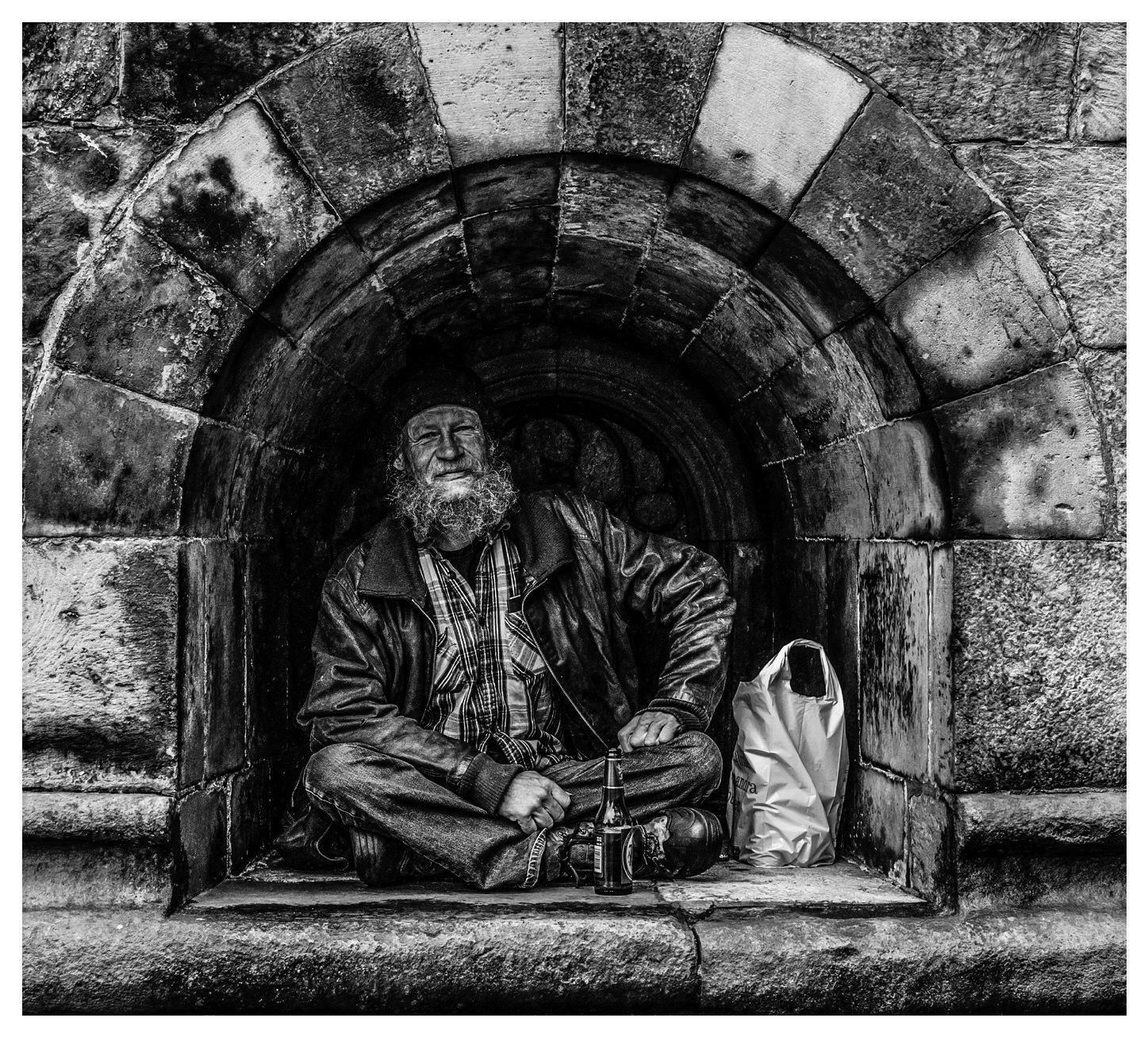 Man in the church by Erik Berrio