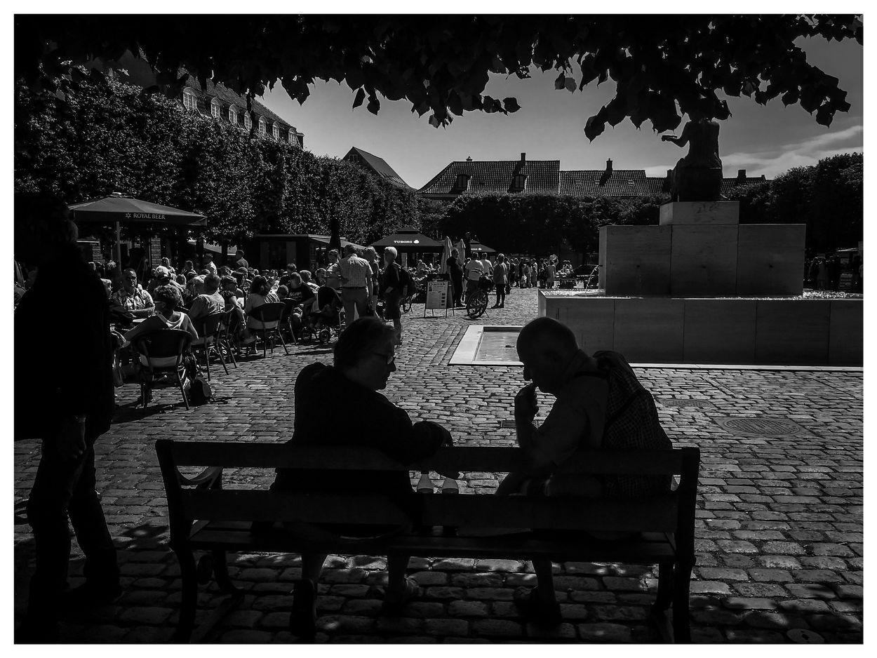 thinking men in Helsingör by Erik Berrio