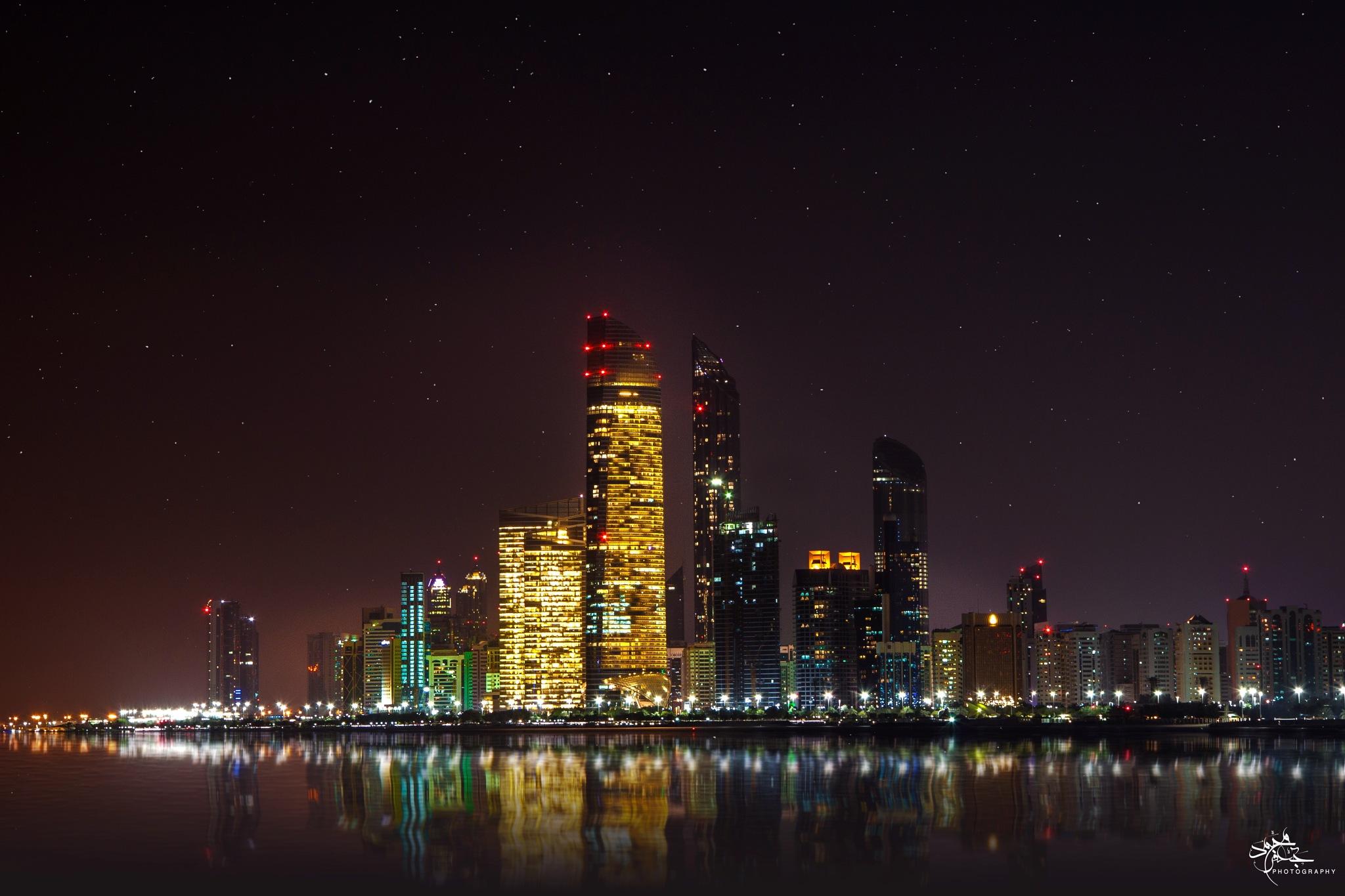 Abu dhabi skyline  by Mohamed gaafar