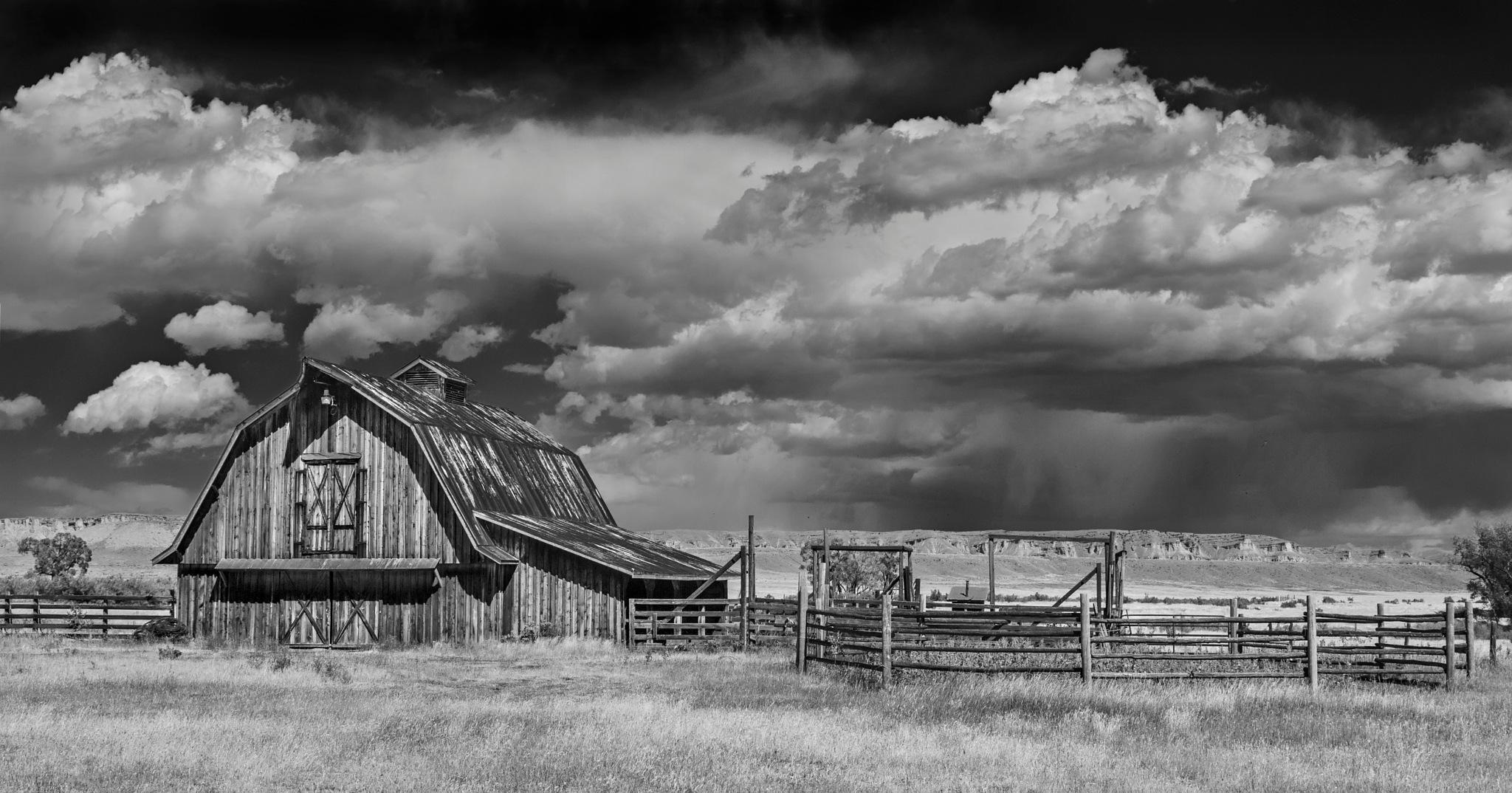 the Barn at Embar, WY by Eddie Tkowksi