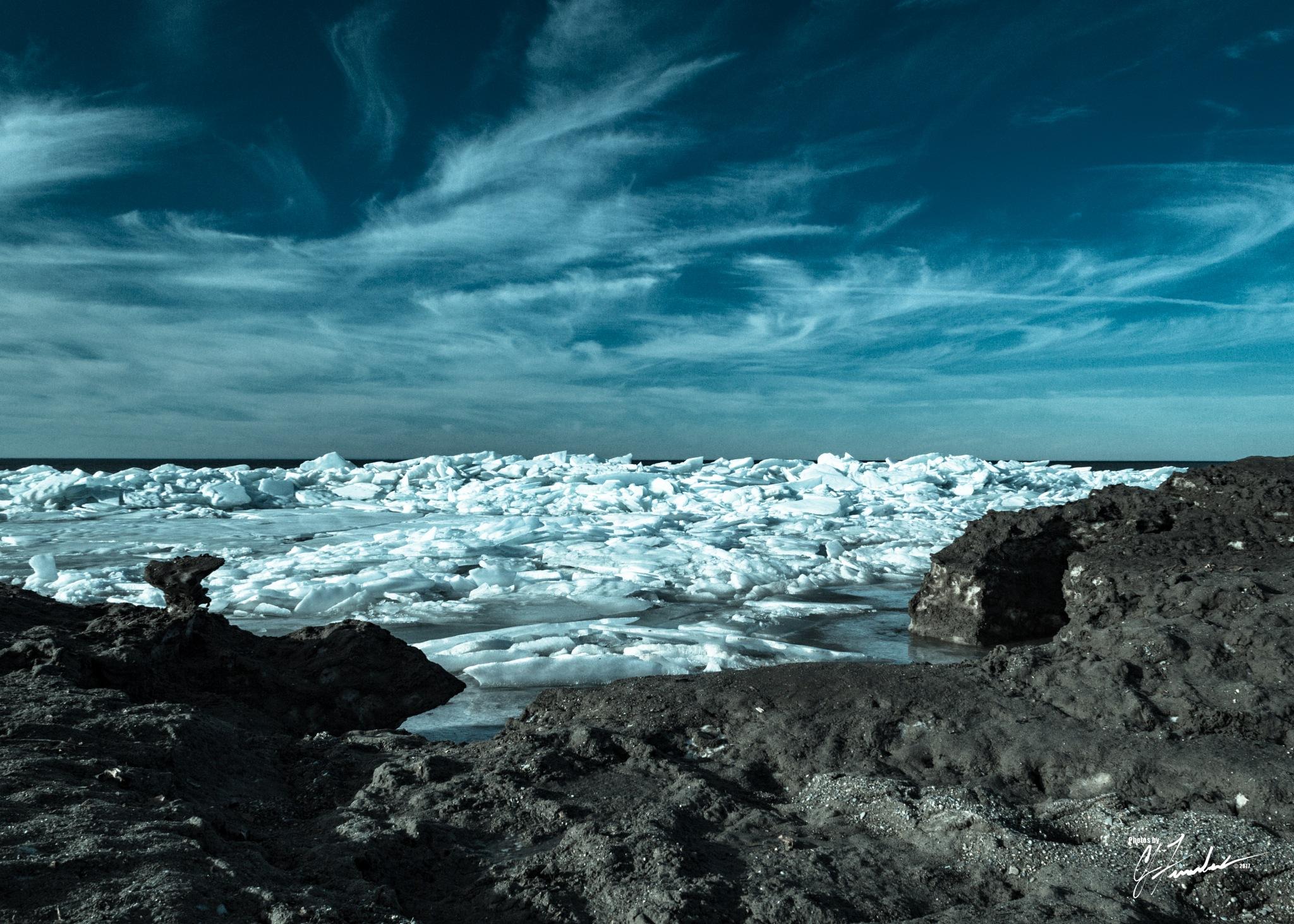 Lake Erie Ice  by CJ Fenstermaker