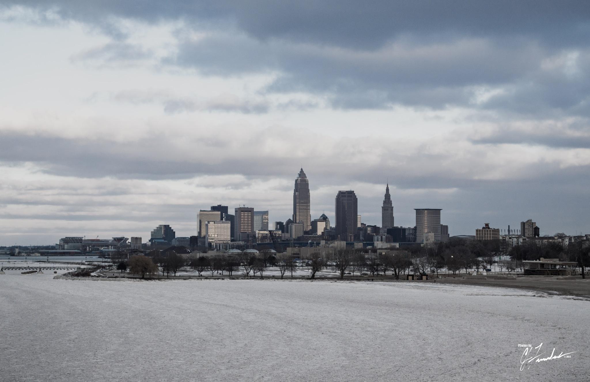 Frozen Cleveland by CJ Fenstermaker