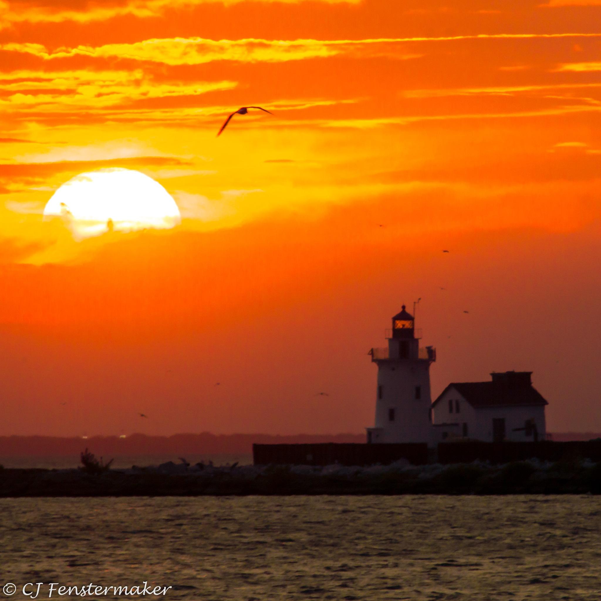 Cleveland Port Lighthouse by CJ Fenstermaker