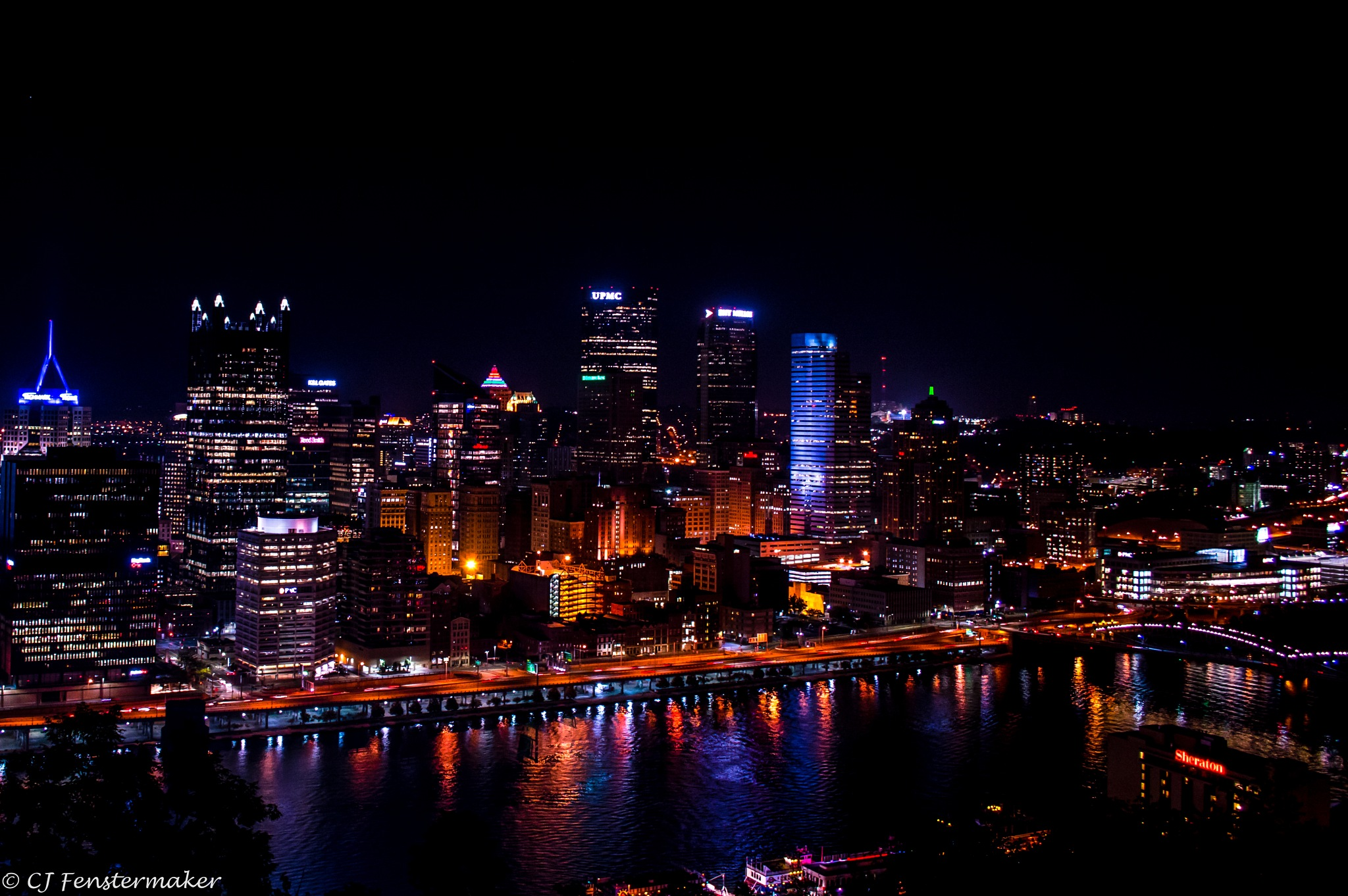 Pittsburgh at Night by CJ Fenstermaker