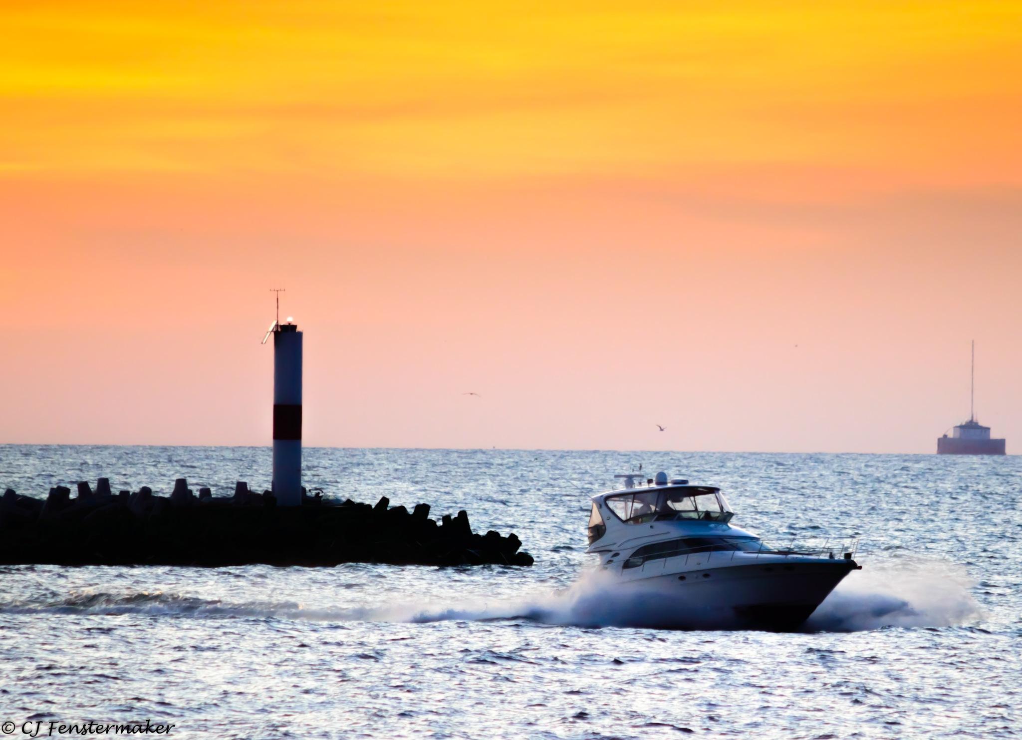 Dusk on the Marina by CJ Fenstermaker