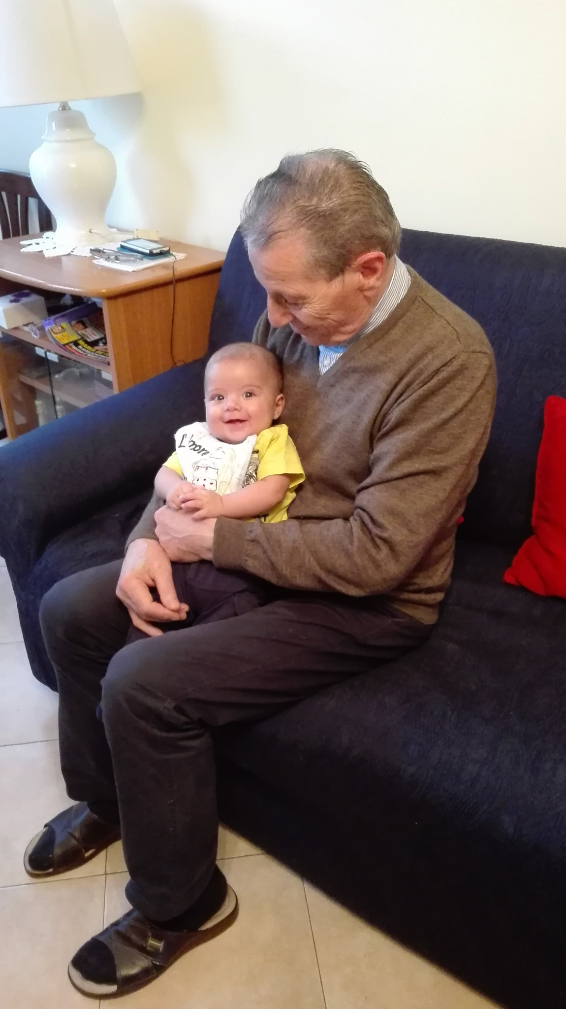 Gabry with grandfather by Gianni Gorga